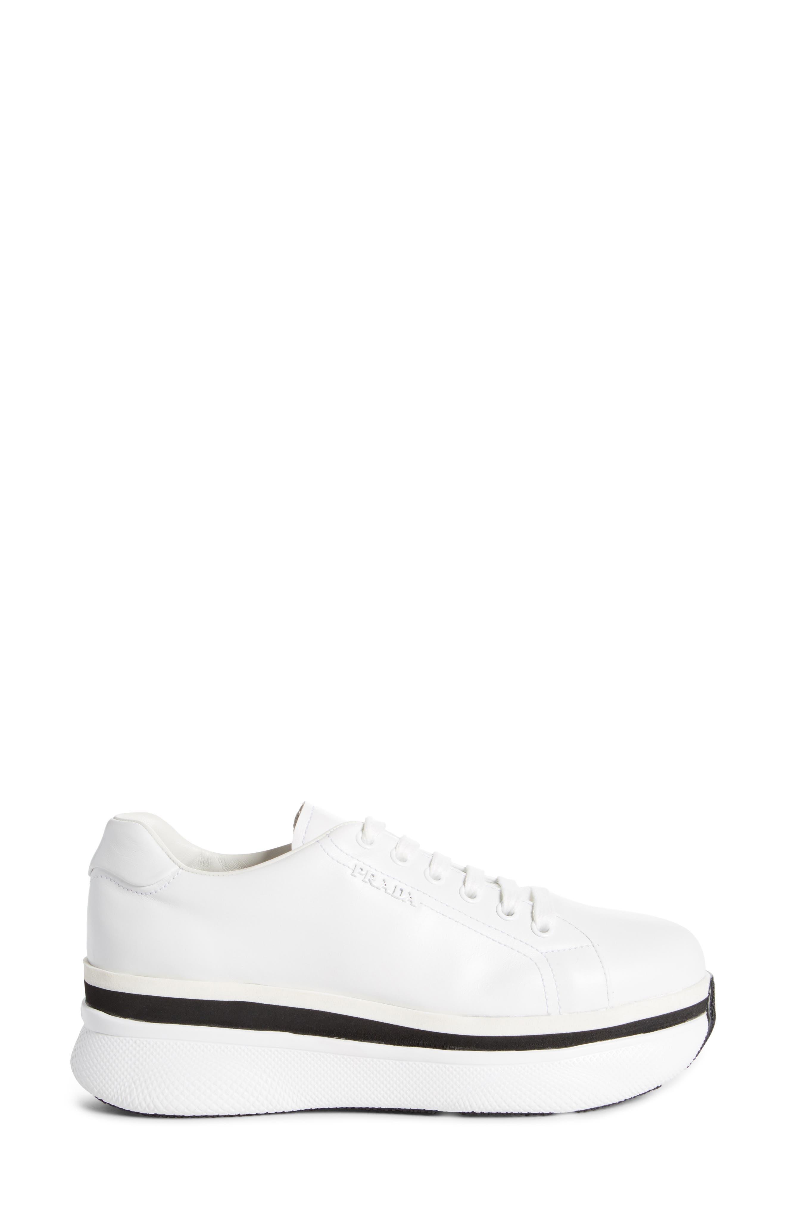 Platform Lace-Up Sneaker,                             Alternate thumbnail 6, color,