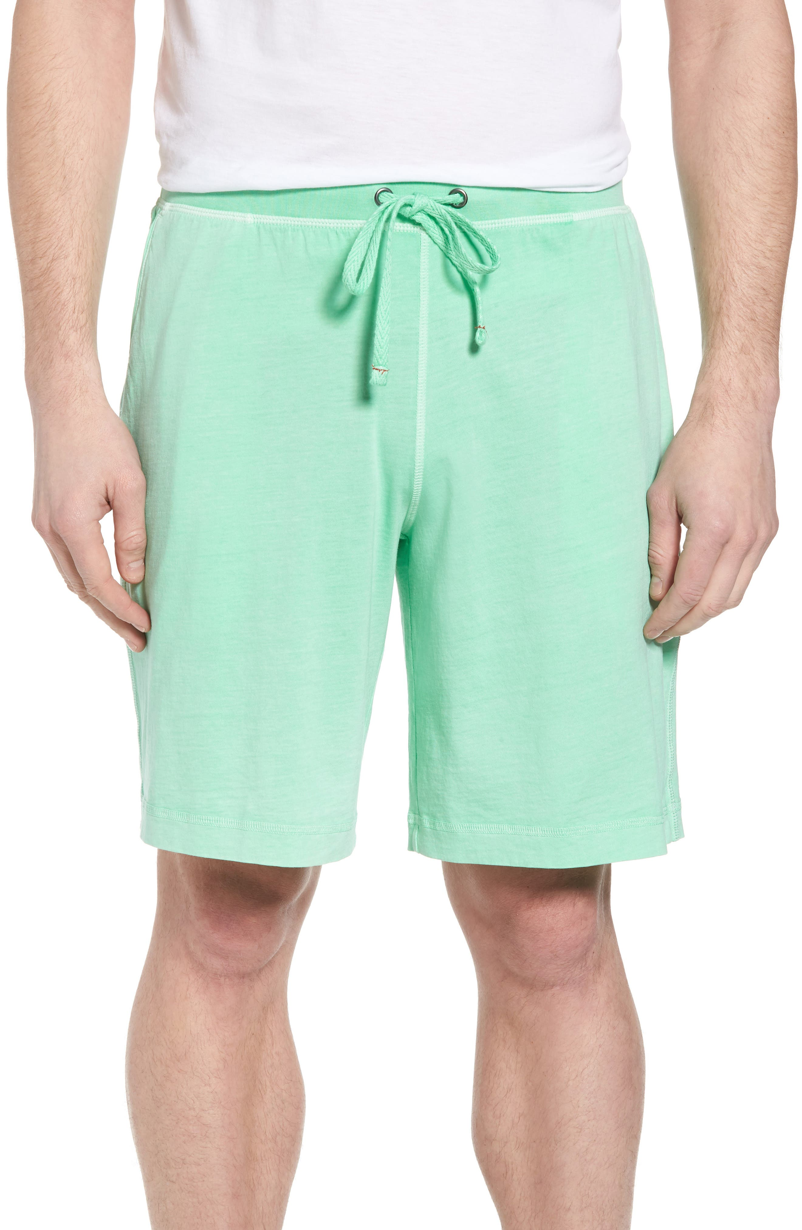 Peruvian Pima Cotton Lounge Shorts,                         Main,                         color, LIME