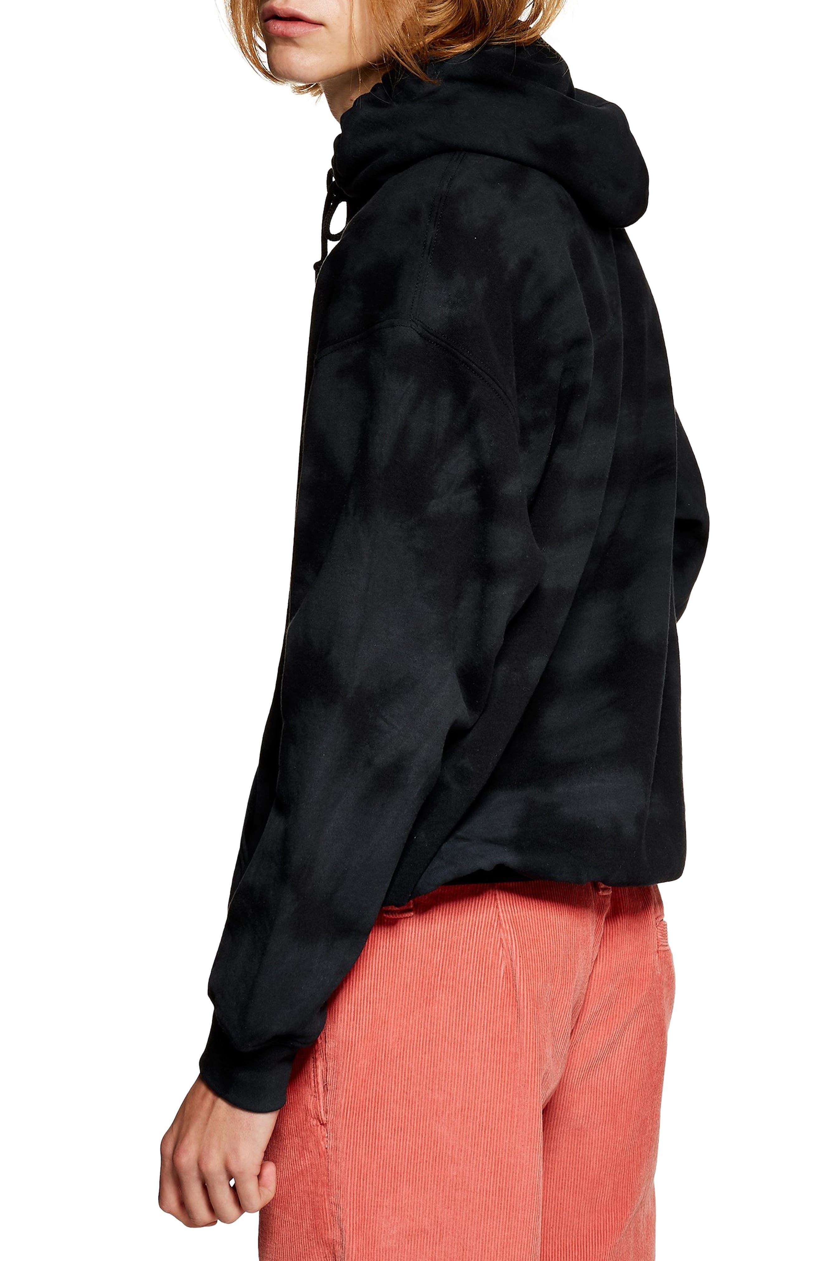 Tie Dye Hoodie,                             Alternate thumbnail 2, color,                             BLACK MULTI