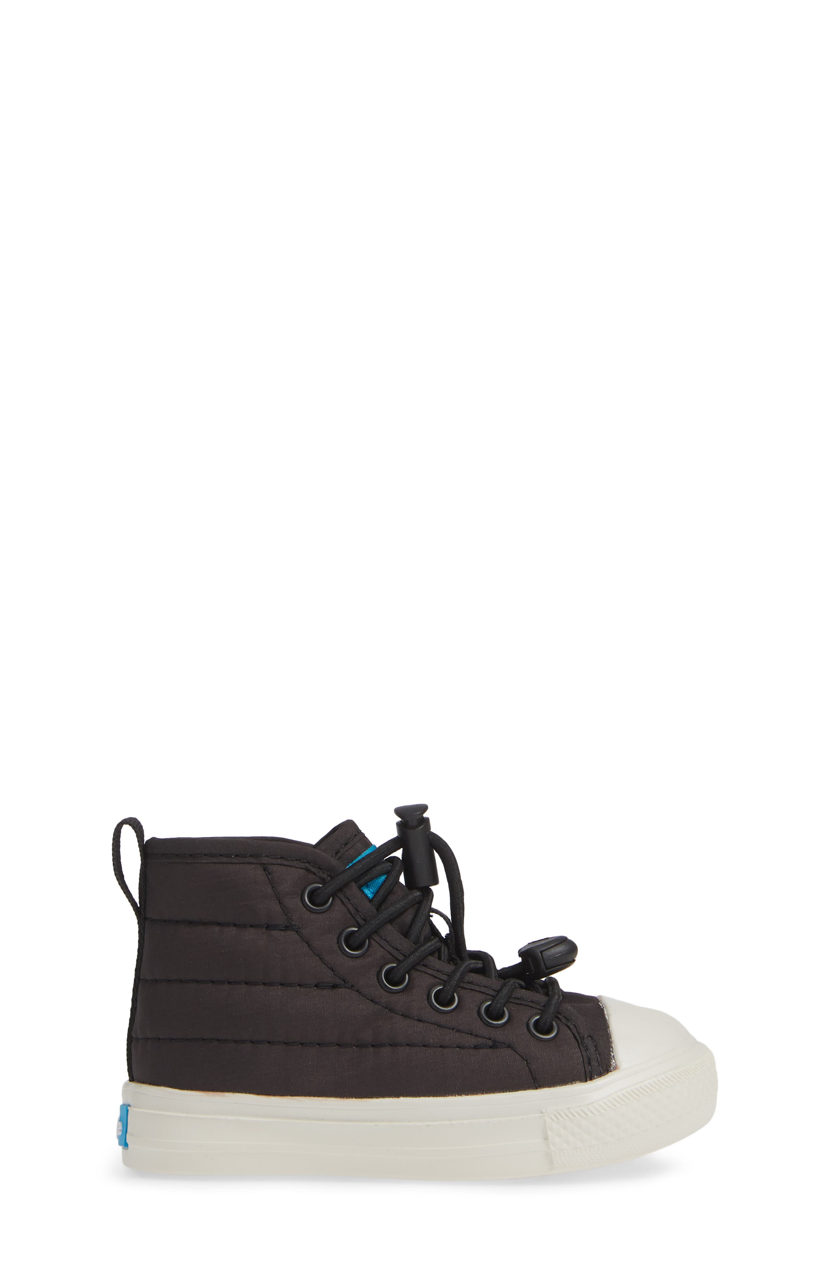 The Phillips Puffy Sneaker,                             Alternate thumbnail 3, color,                             REALLY BLACK/PICKET WHITE