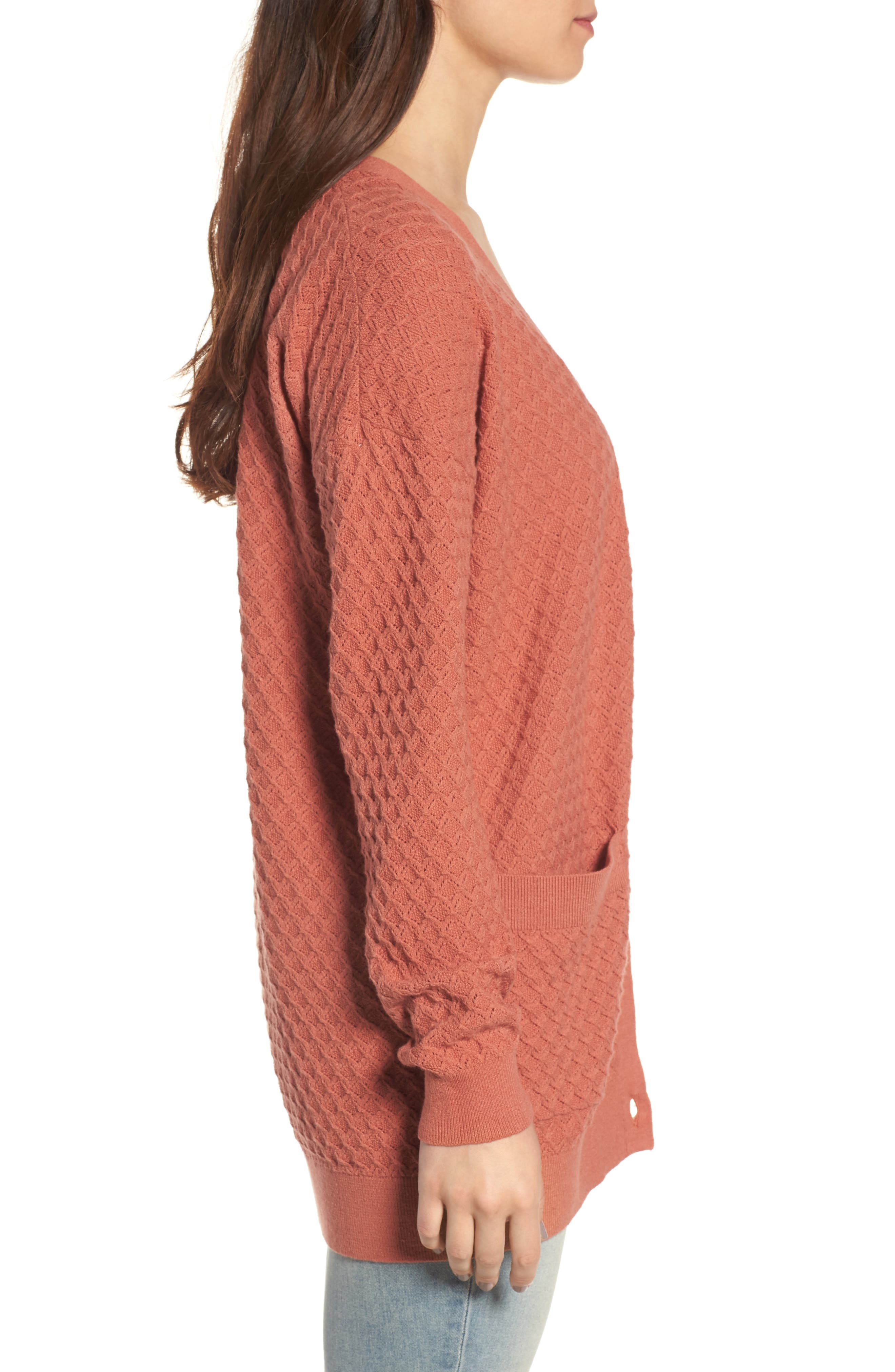 Pointelle Cardigan Sweater,                             Alternate thumbnail 12, color,