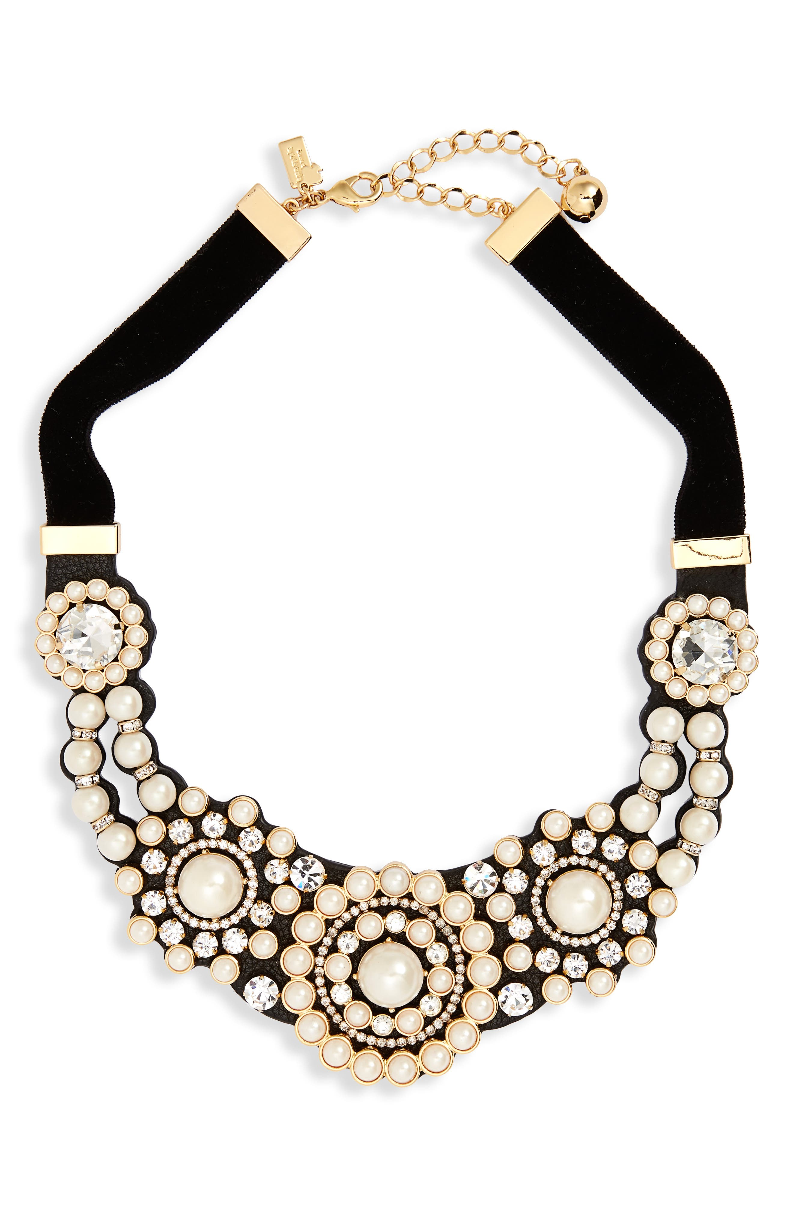 luminous small statement necklace,                             Main thumbnail 2, color,