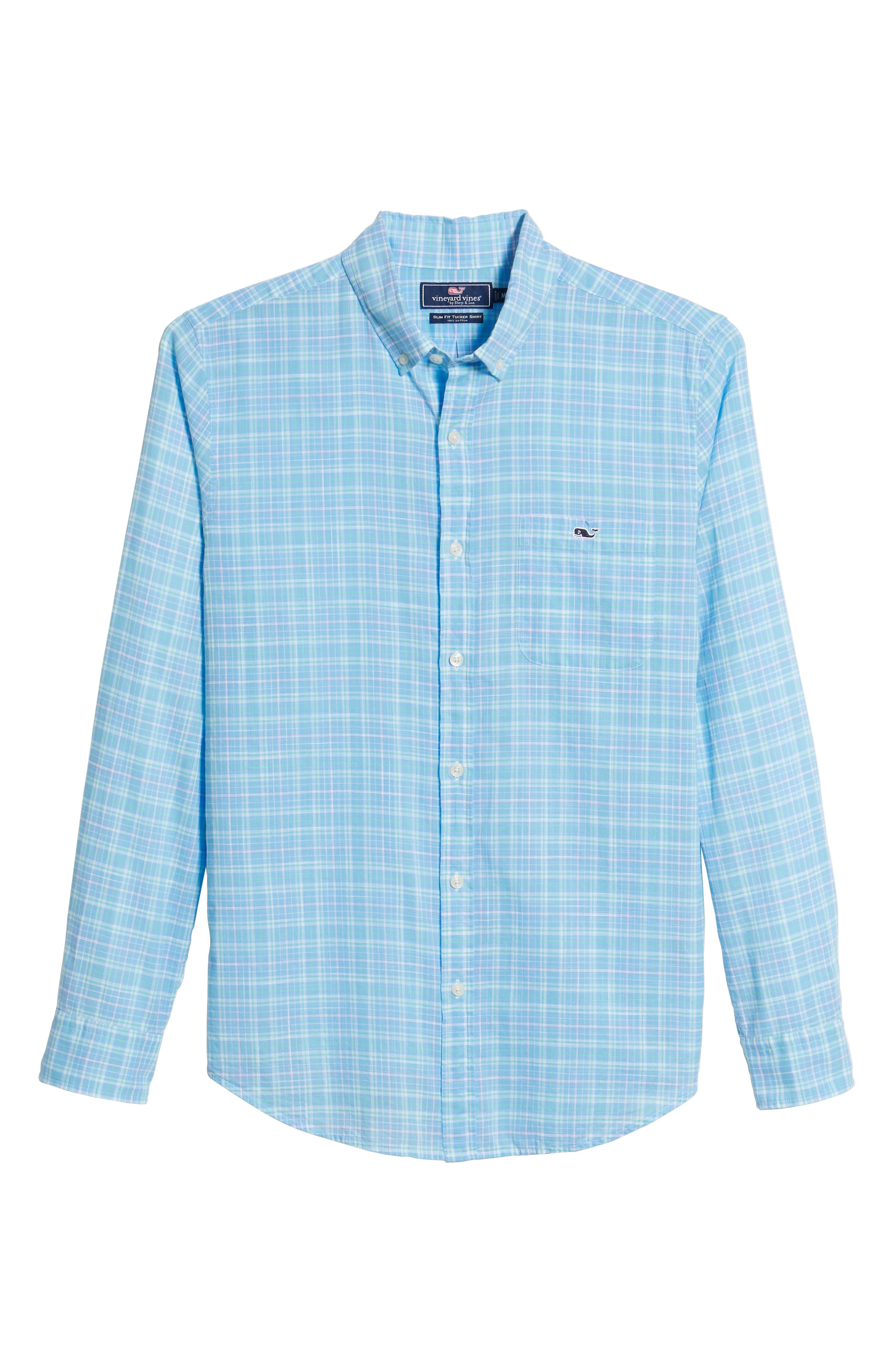 Stoney Hill Tucker Classic Fit Plaid Sport Shirt,                             Alternate thumbnail 6, color,                             415