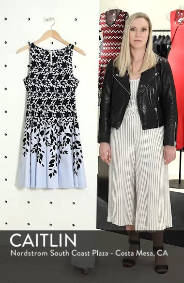 Print Fit & Flare Dress, sales video thumbnail