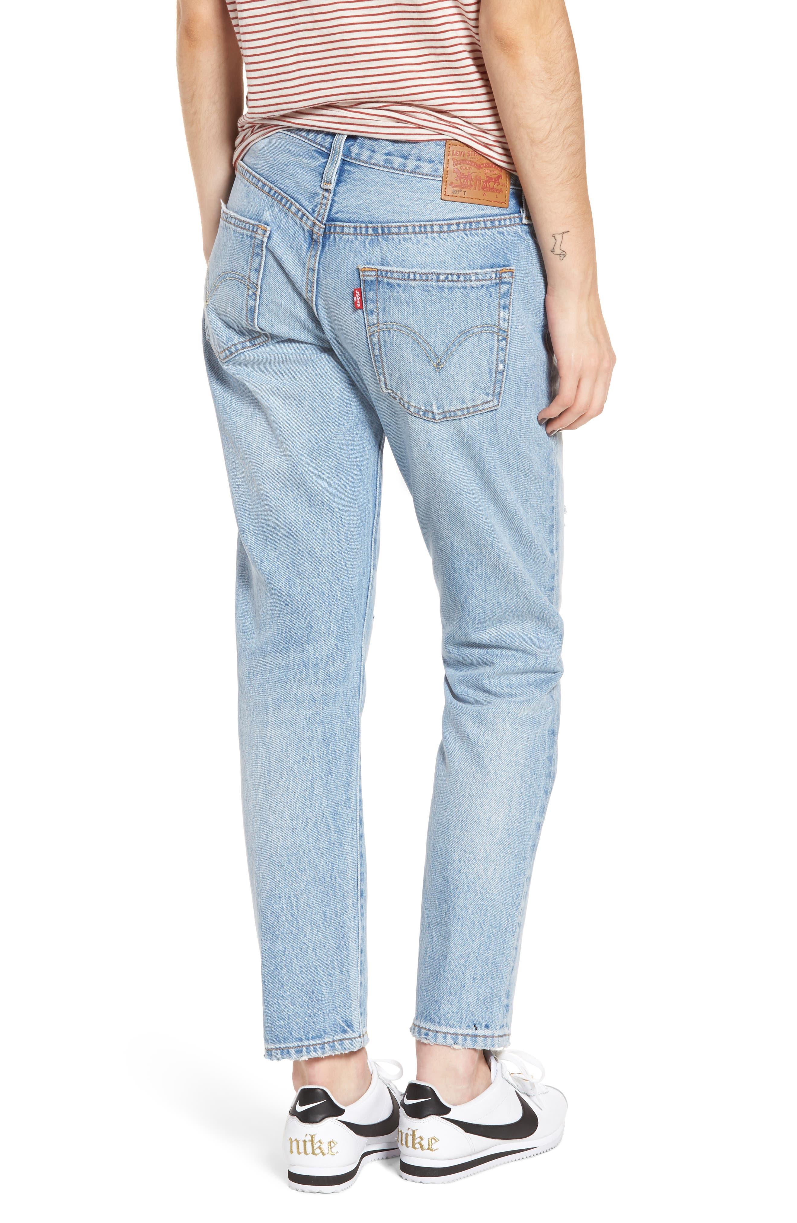501<sup>®</sup> Boyfriend Jeans,                             Alternate thumbnail 2, color,                             450