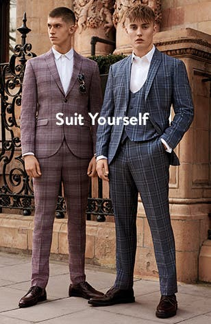 Suit yourself: men's clothing and accessories from Topman.