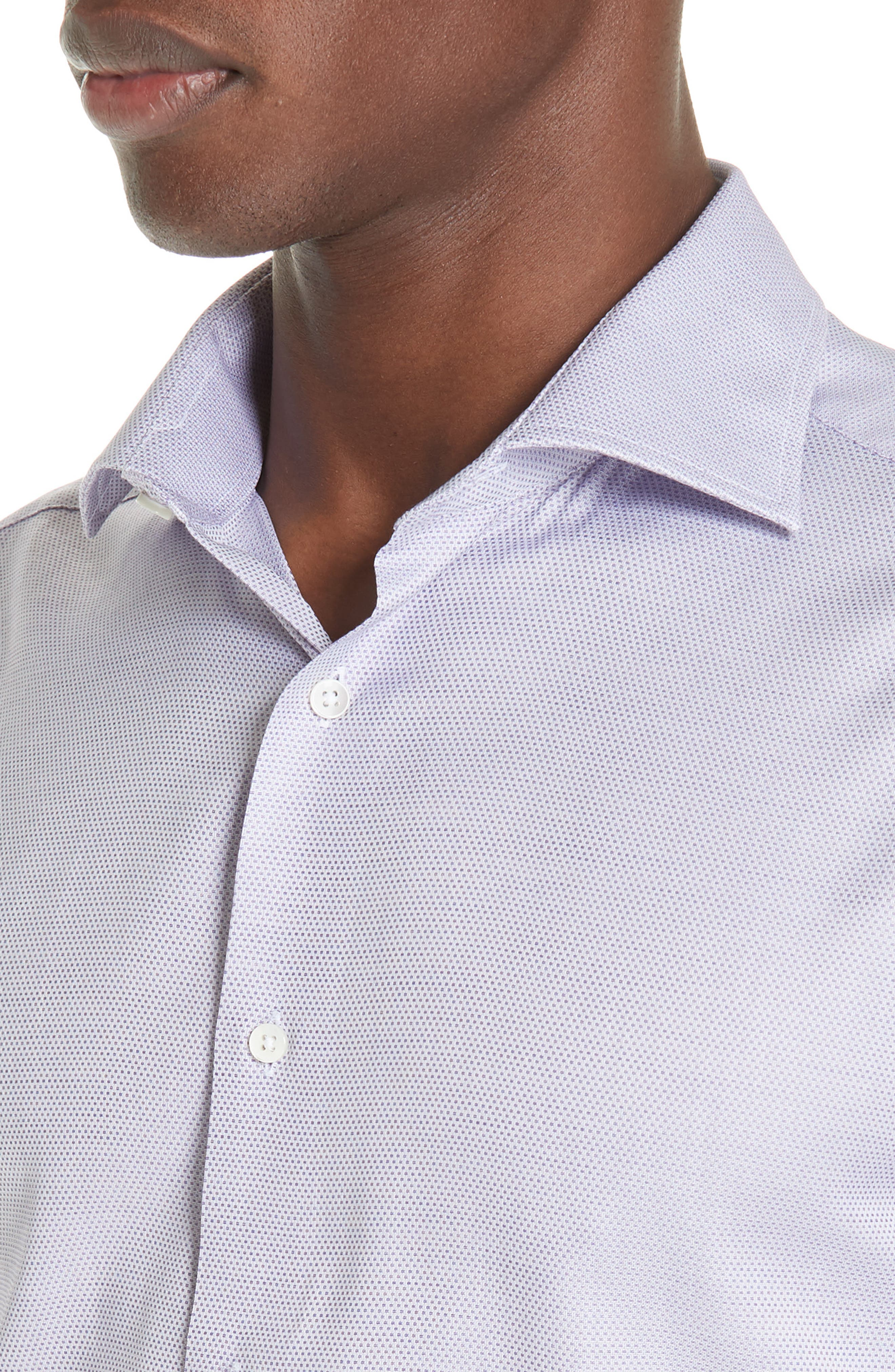 Trim Fit Dress Shirt,                             Alternate thumbnail 2, color,                             LIGHT PURPLE