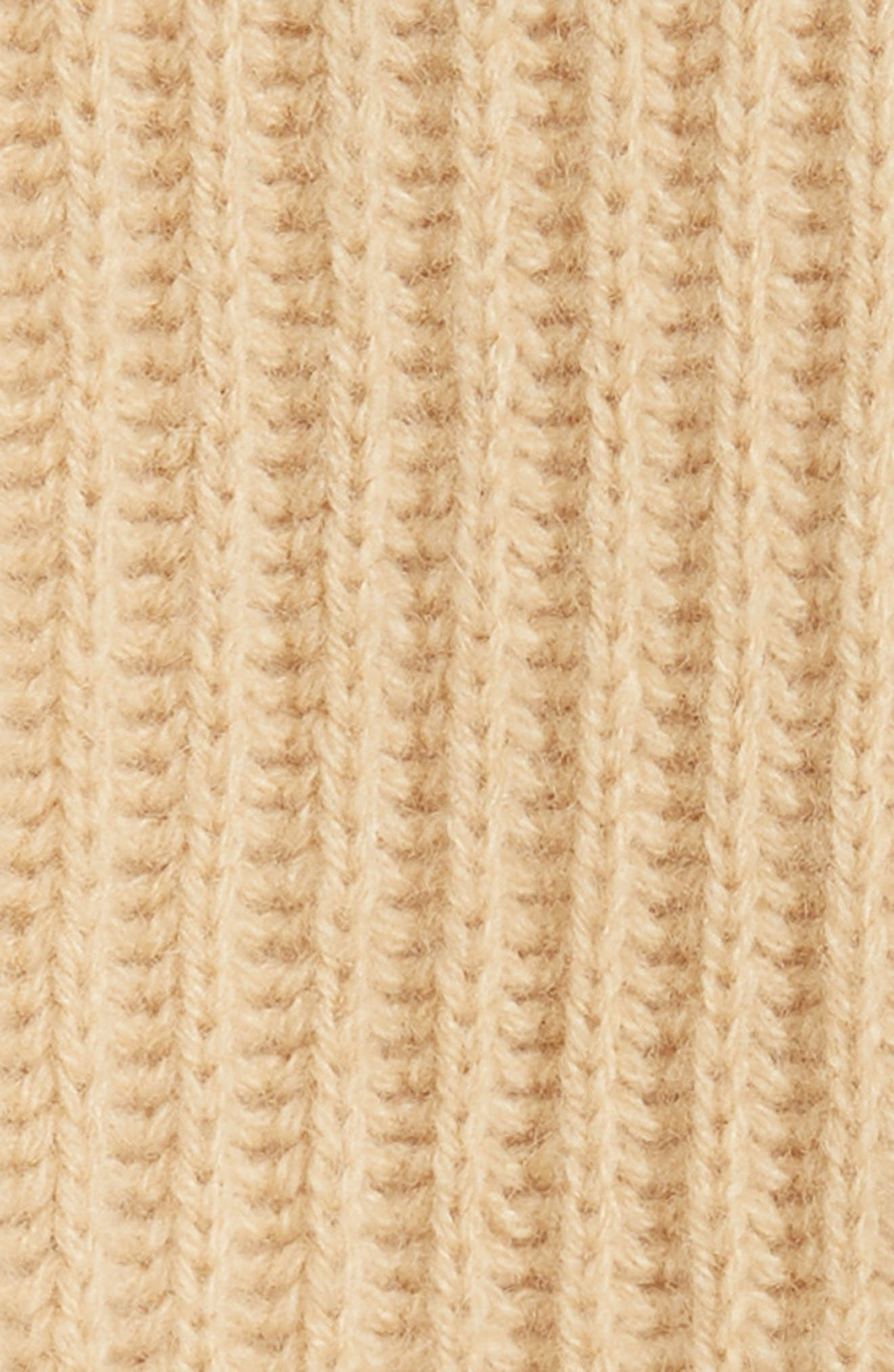 Ribbed Crop Cardigan,                             Alternate thumbnail 5, color,                             GINSENG