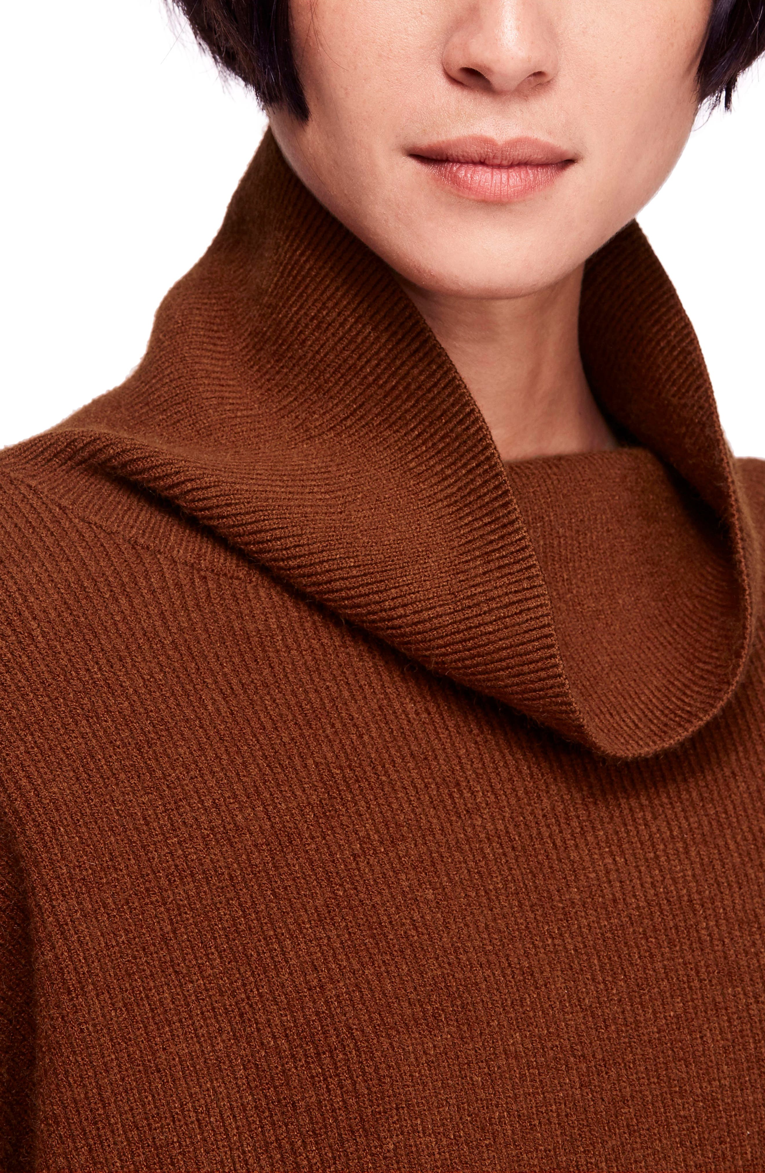 Softly Structured Knit Tunic,                             Alternate thumbnail 4, color,                             TERRACOTTA