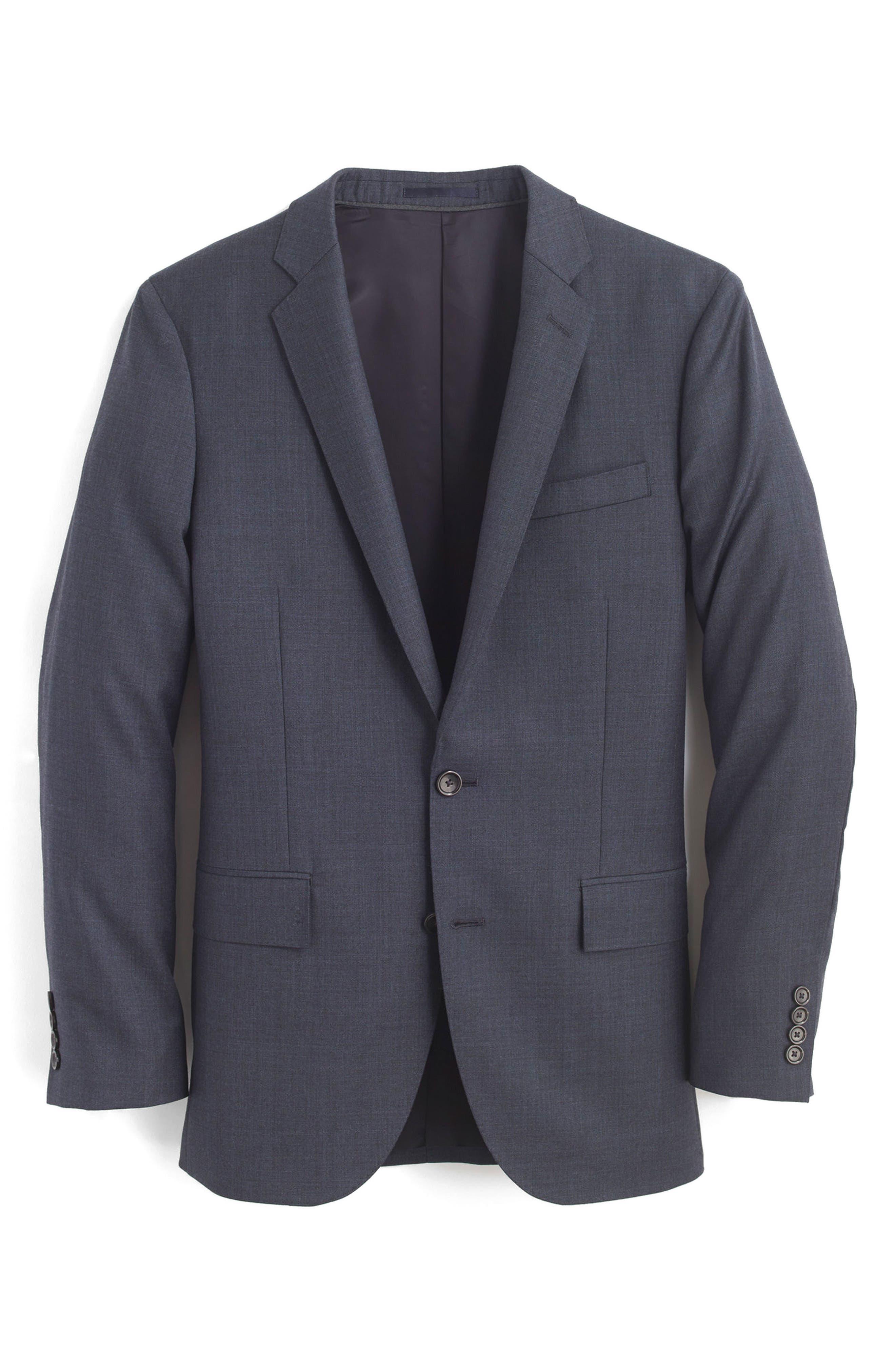 Ludlow Trim Fit Solid Wool Sport Coat,                             Alternate thumbnail 14, color,