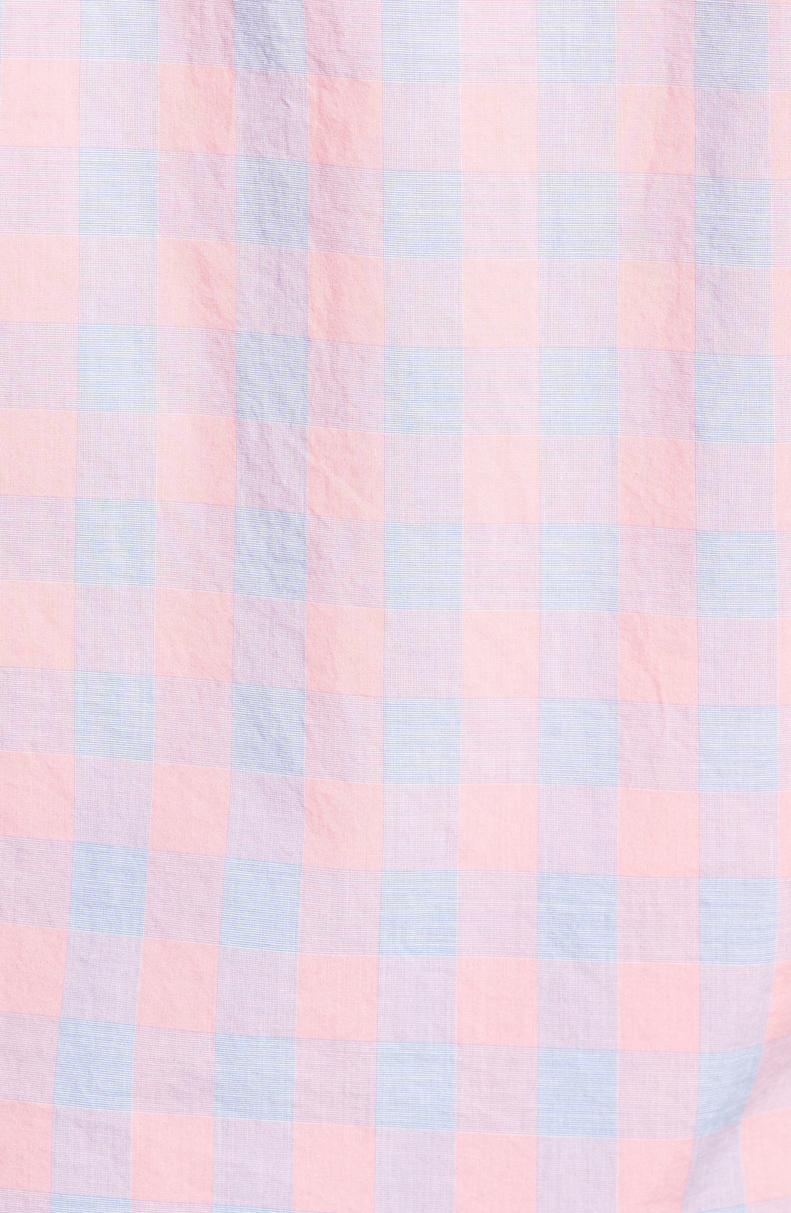 Summerweight Slim Fit Gingham Sport Shirt,                             Alternate thumbnail 5, color,                             650