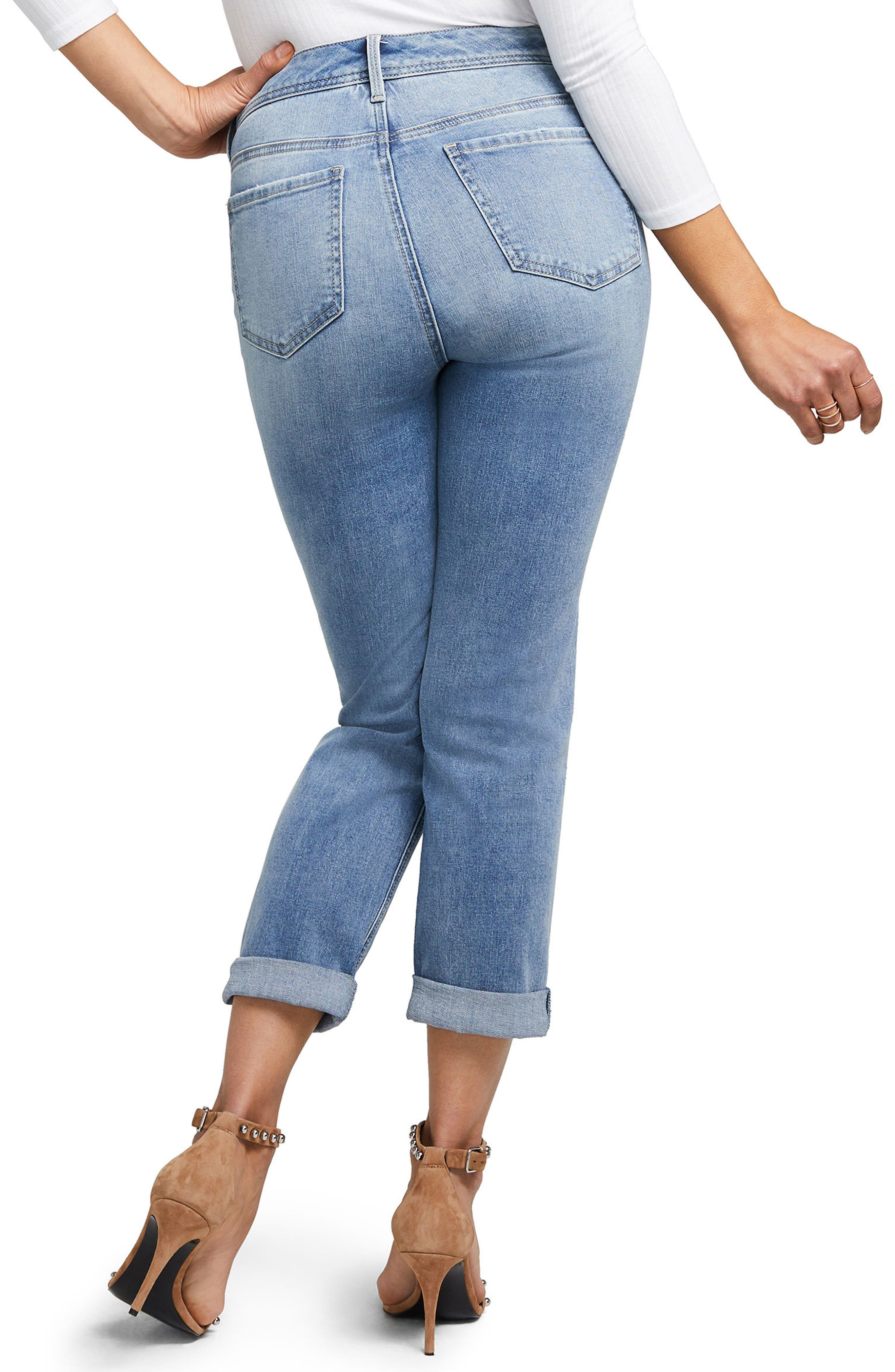 Slim Straight Crop Jeans,                             Alternate thumbnail 2, color,                             416
