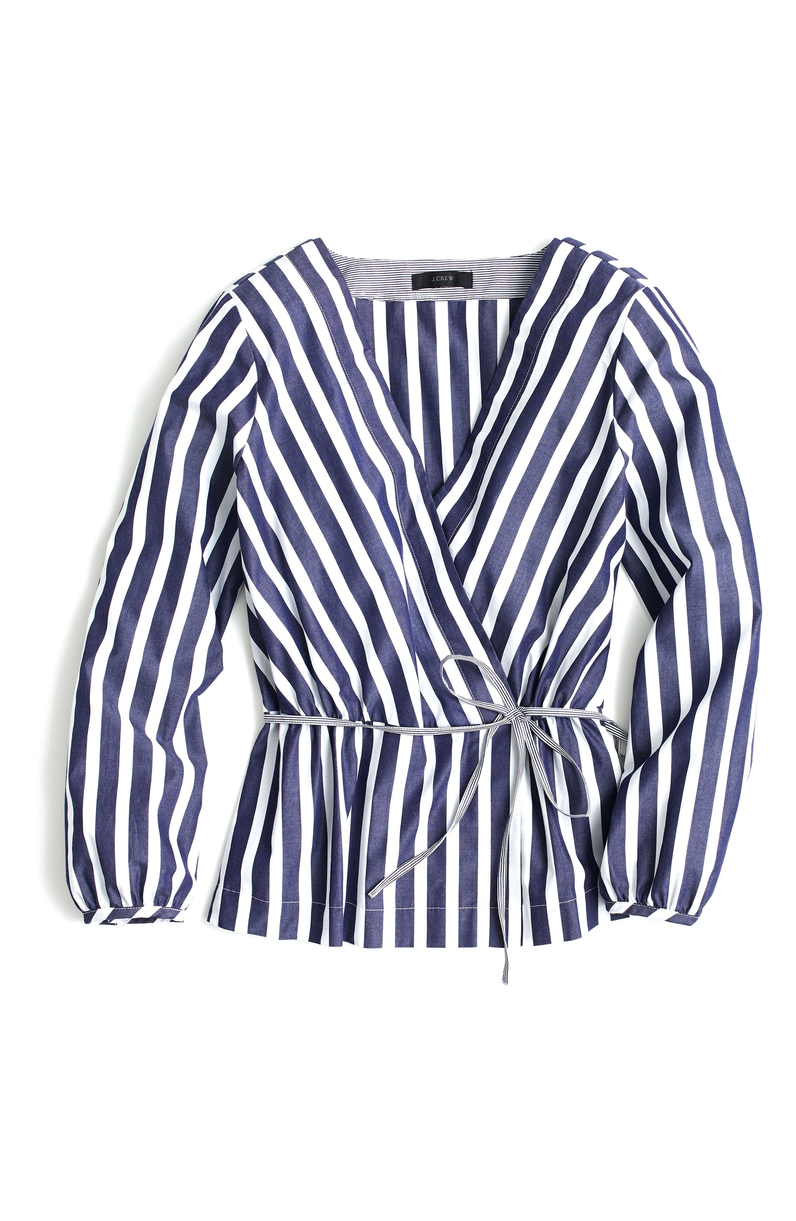Stripe Faux Wrap Top,                             Alternate thumbnail 3, color,