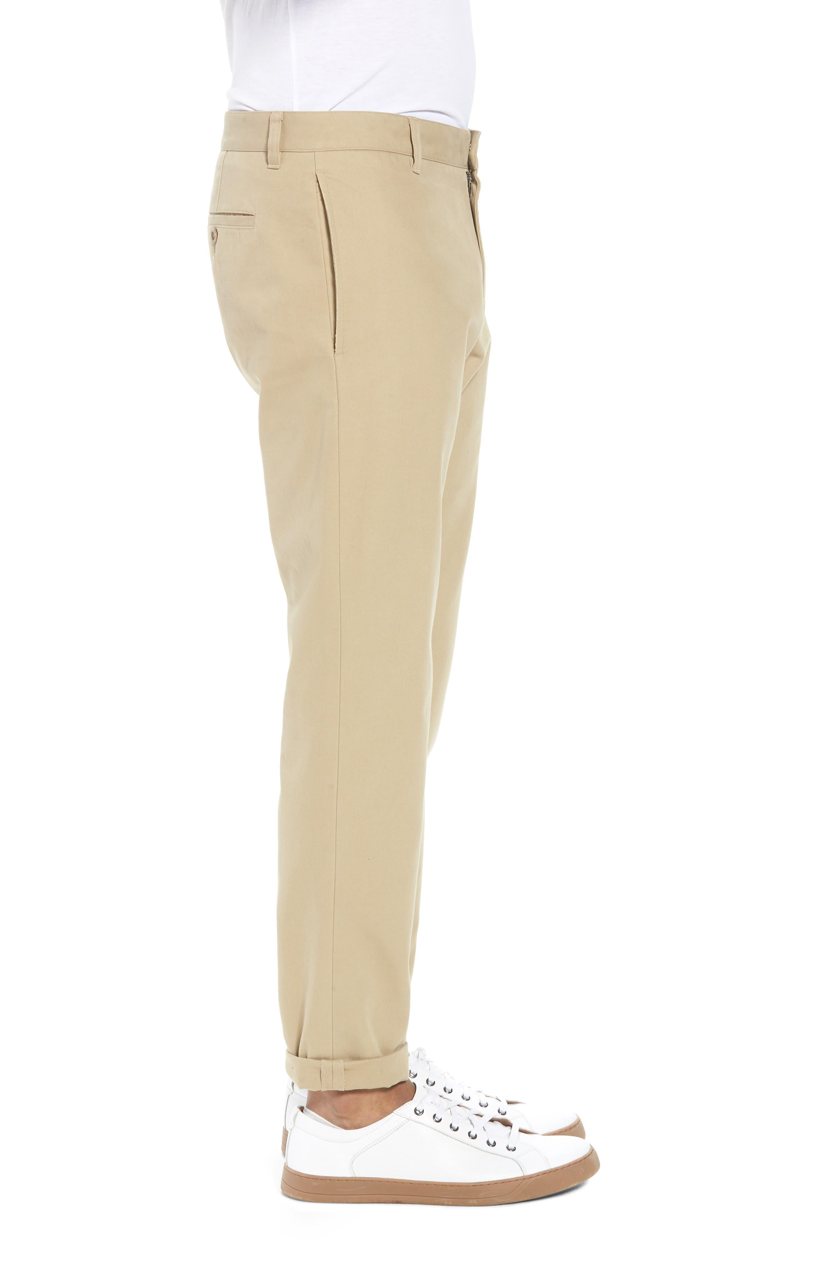 Flat Front Chino Pants,                             Alternate thumbnail 3, color,                             250