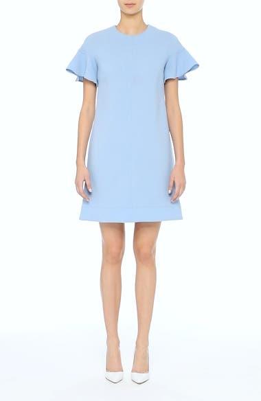 Flutter Sleeve Wool Blend Shift Dress, video thumbnail