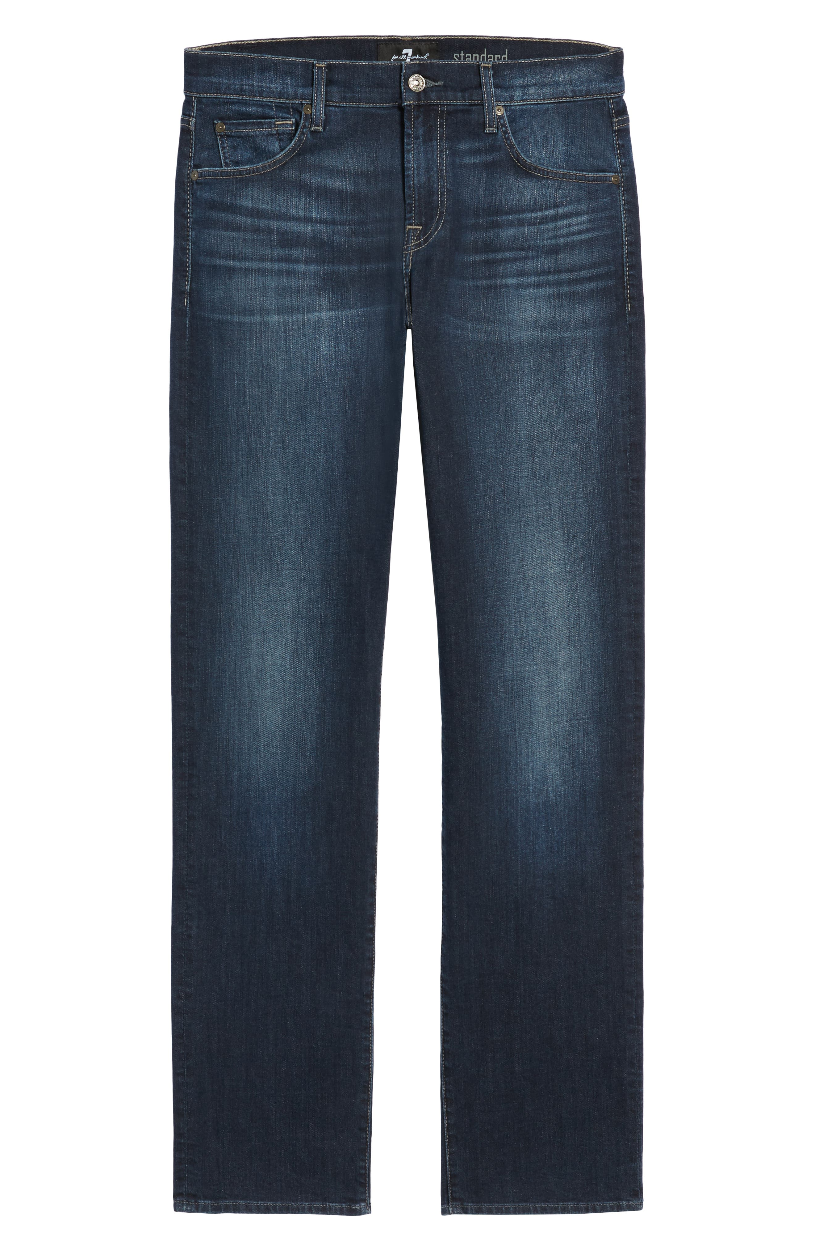 Standard Fit Straight Leg Jeans,                             Alternate thumbnail 6, color,                             JUSTICE