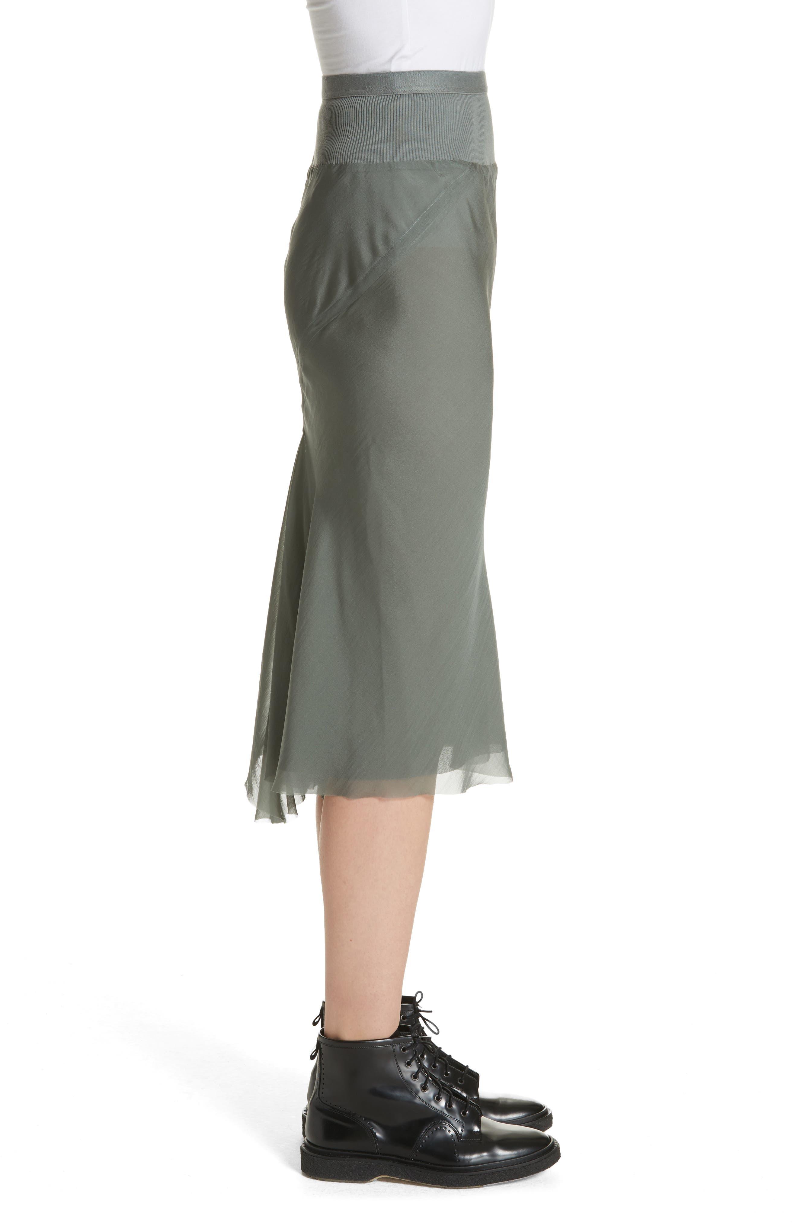 Silk Chiffon Midi Skirt,                             Alternate thumbnail 3, color,                             300