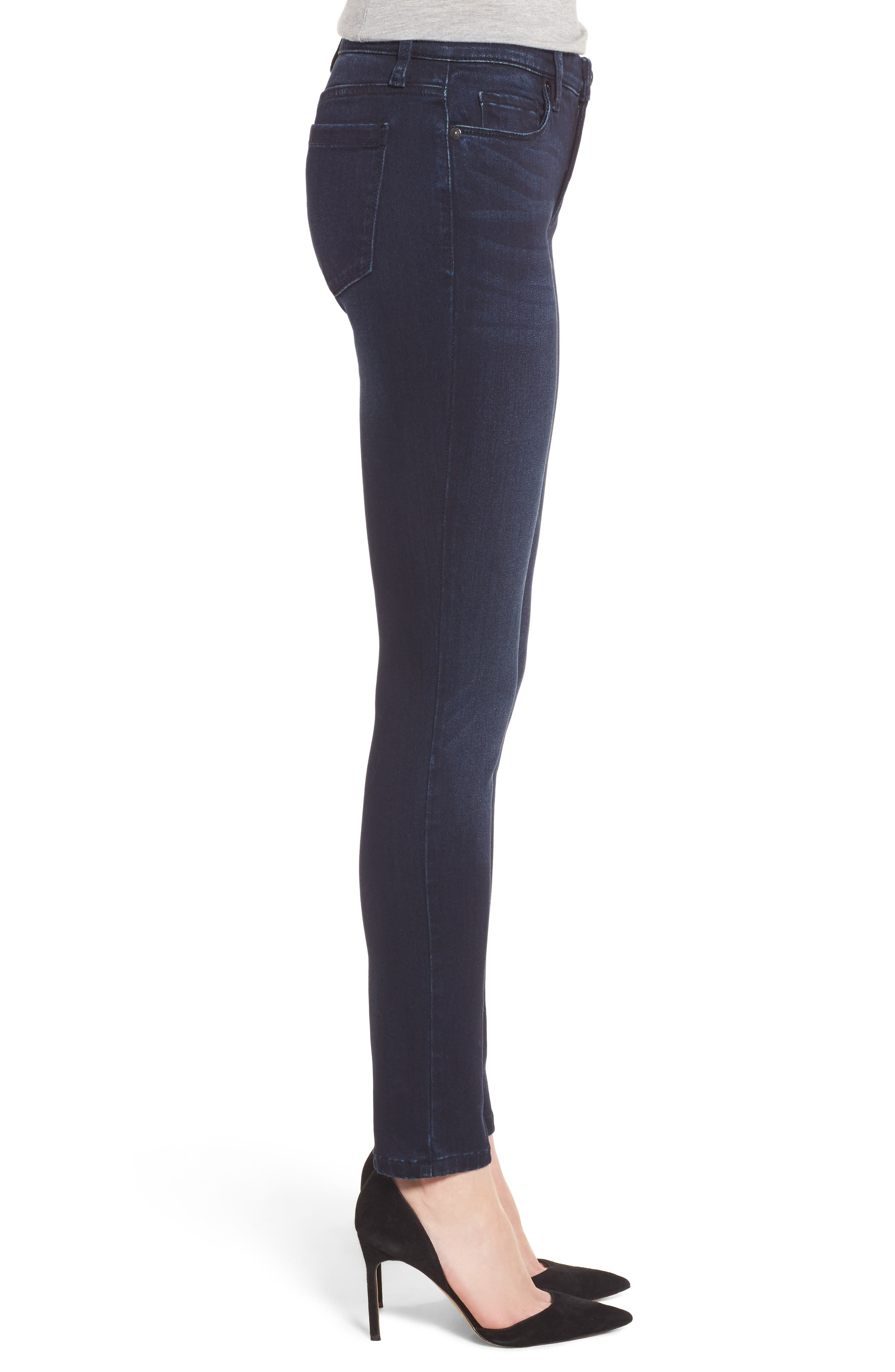Stretch Skinny Jeans,                             Alternate thumbnail 3, color,                             401