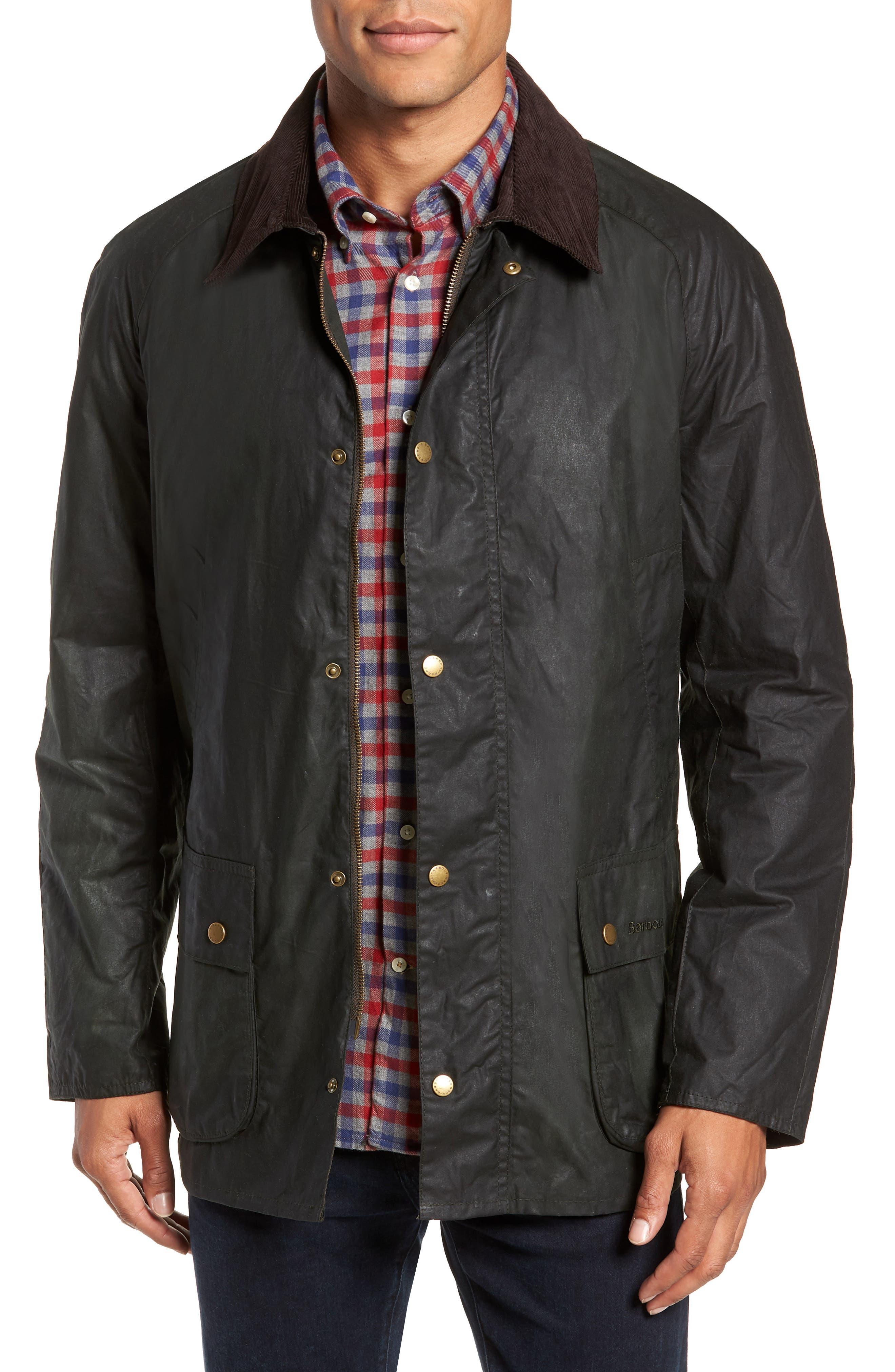Lightweight Ashby Wax Jacket,                         Main,                         color, SAGE