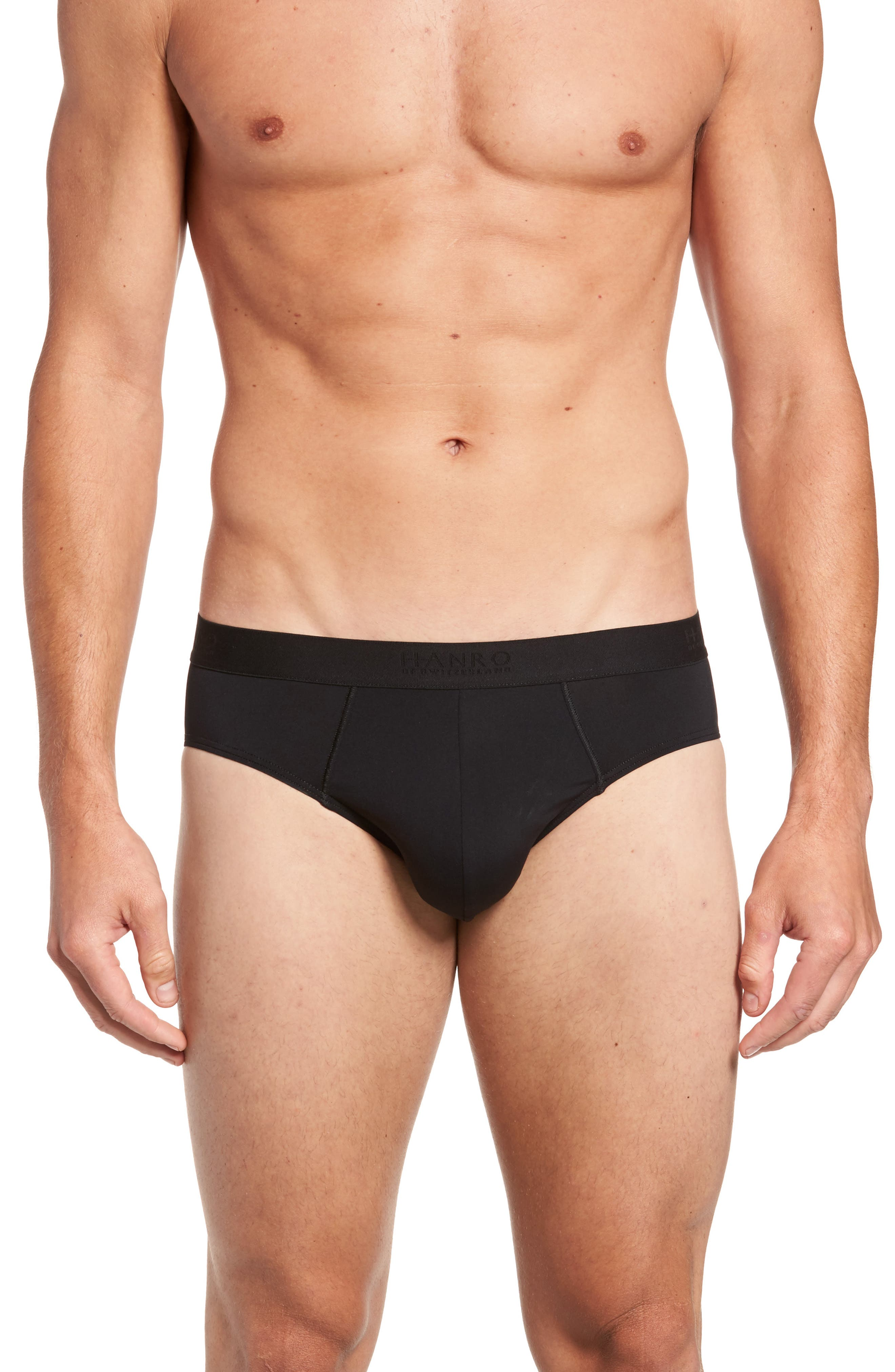 Micro Touch Briefs,                         Main,                         color, BLACK