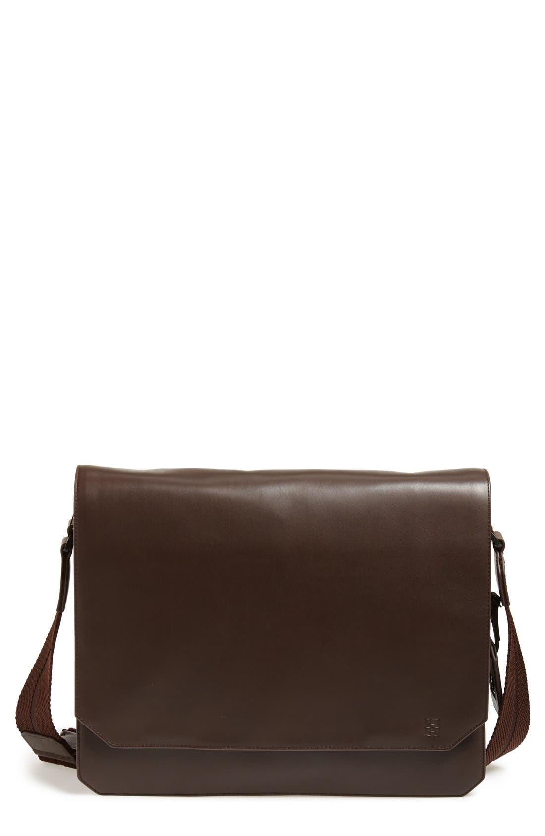 'Tolve' Leather Messenger Bag,                             Main thumbnail 1, color,                             210