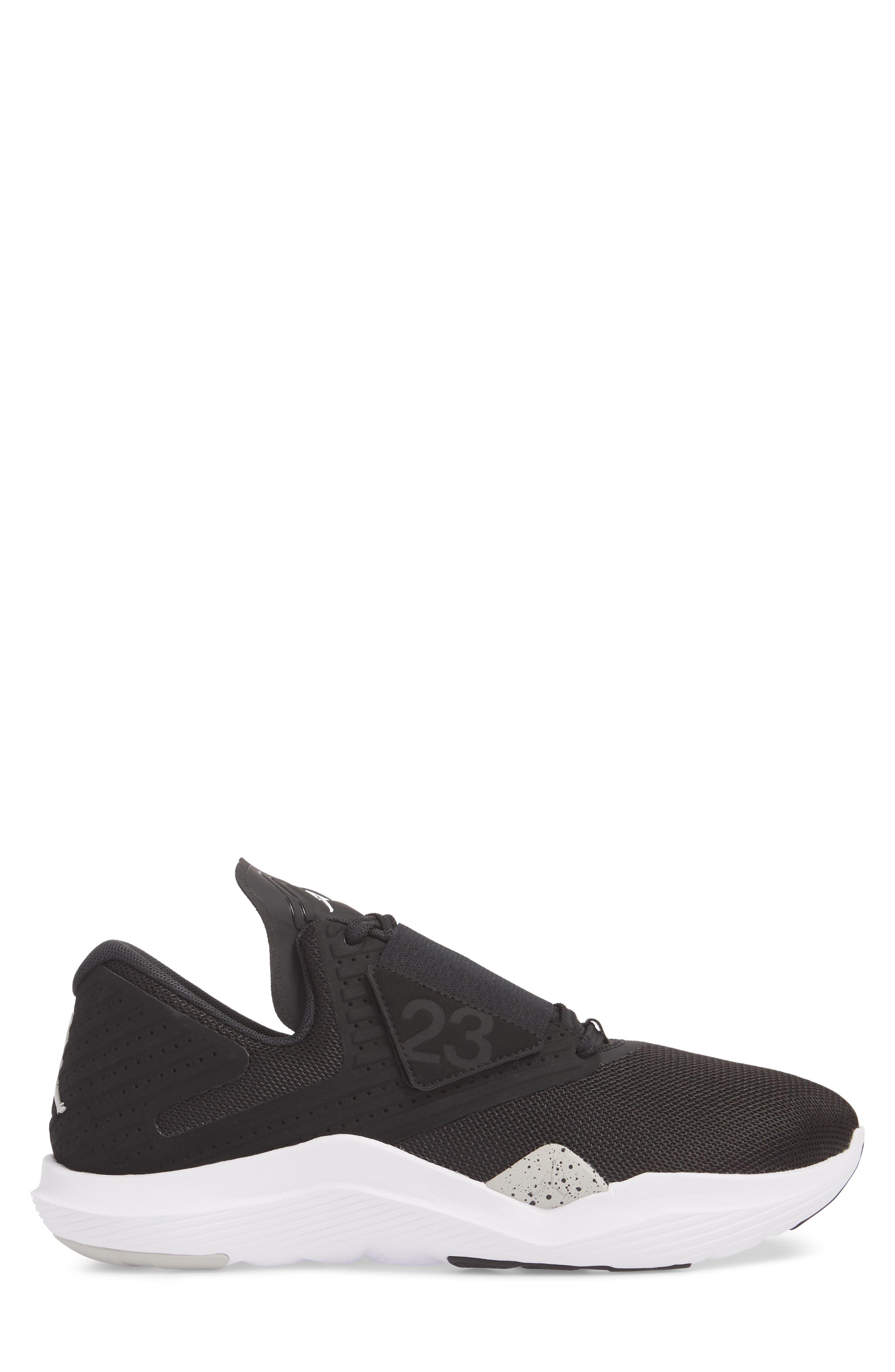 Air Jordan Relentless Training Sneaker,                             Alternate thumbnail 3, color,                             BLACK/ TECH GREY/ WHITE