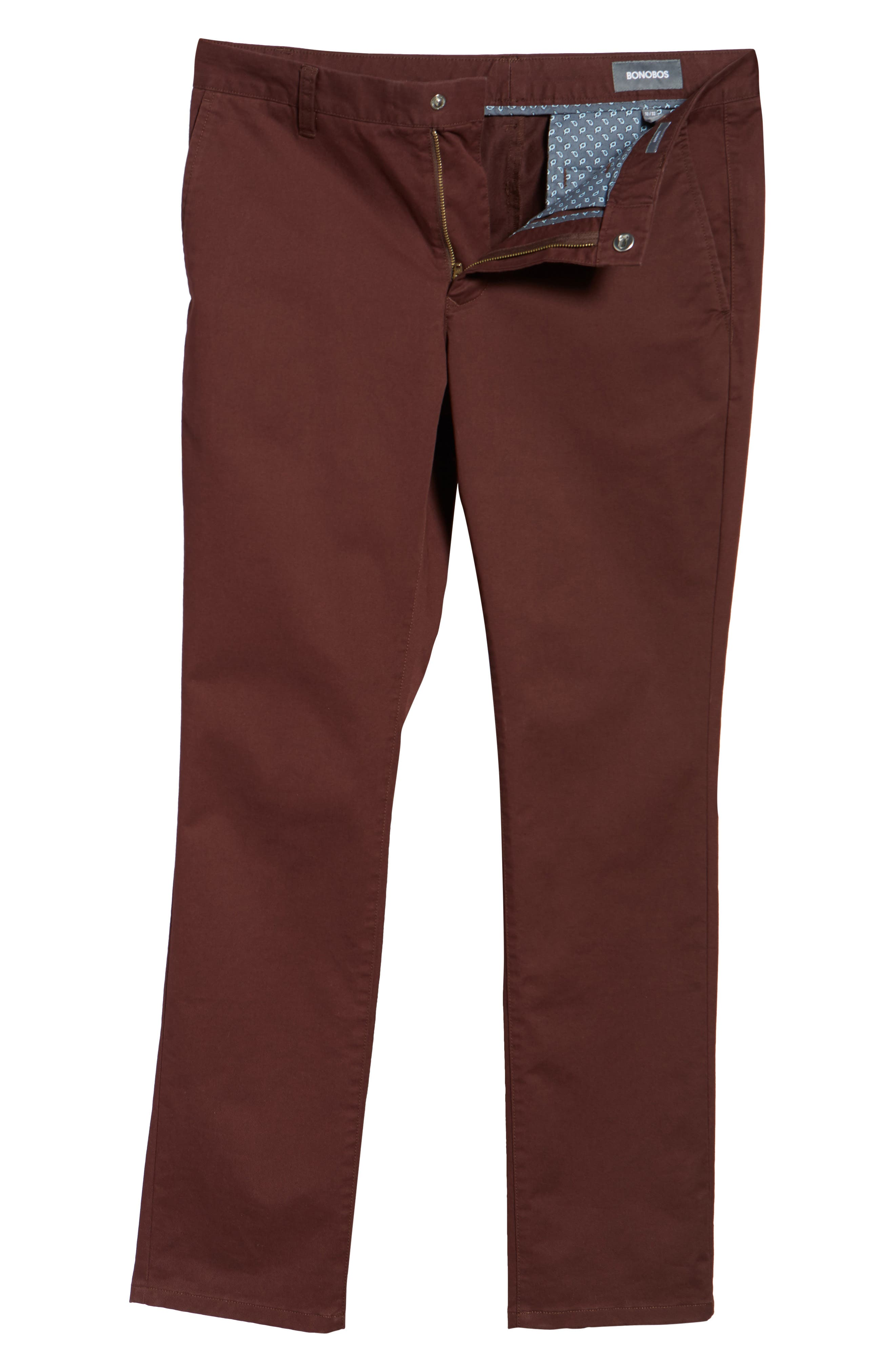 Tailored Fit Washed Stretch Cotton Chinos,                             Alternate thumbnail 194, color,