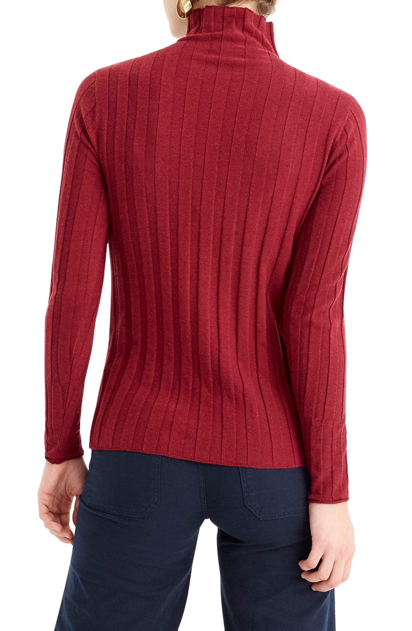 365 Stretch Ribbed Turtleneck Sweater,                             Alternate thumbnail 2, color,                             930