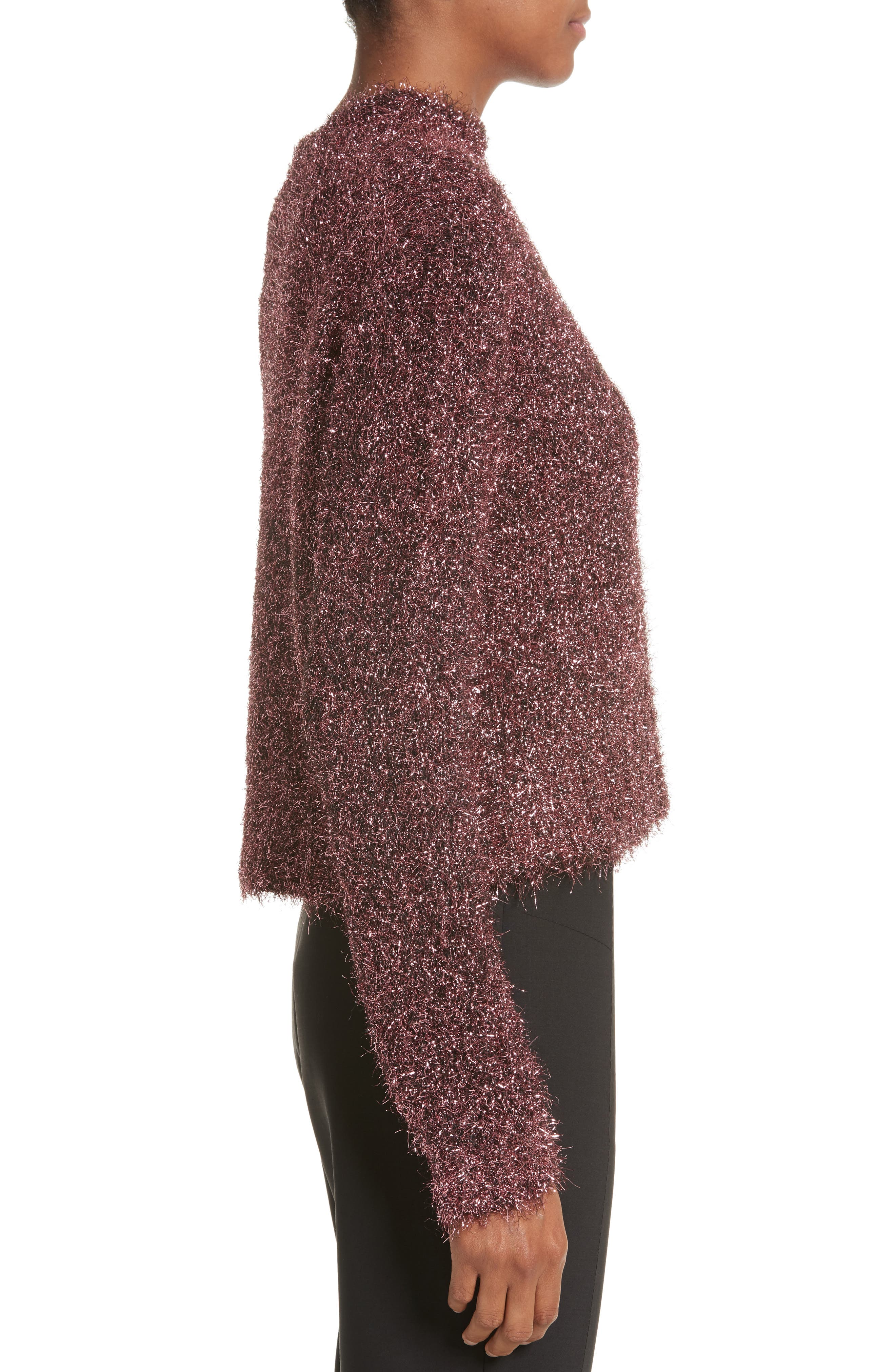 Vaporize Textured Metallic Sweater,                             Alternate thumbnail 3, color,                             650