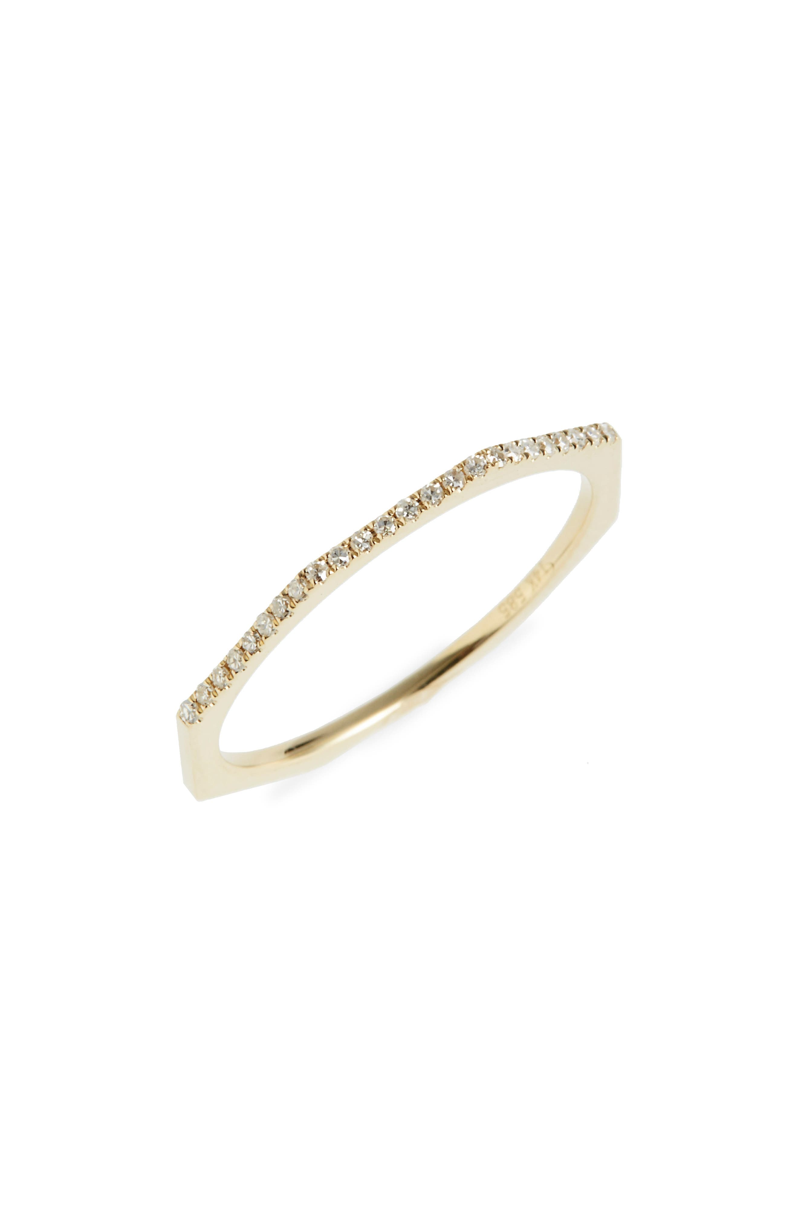 Diamond Octagon Band Ring,                         Main,                         color, YELLOW GOLD