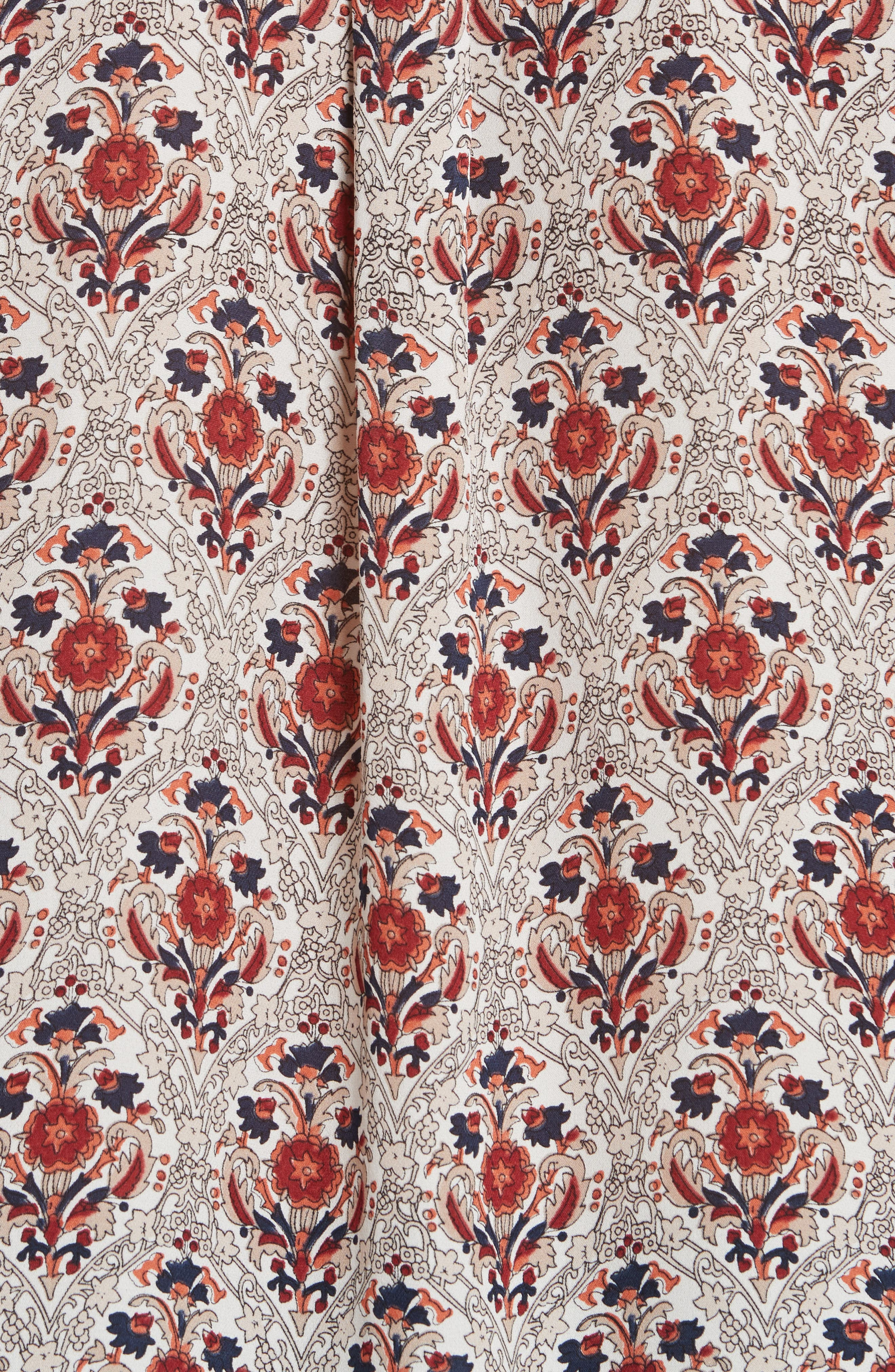 Jamiona Floral Silk Top,                             Alternate thumbnail 5, color,                             114
