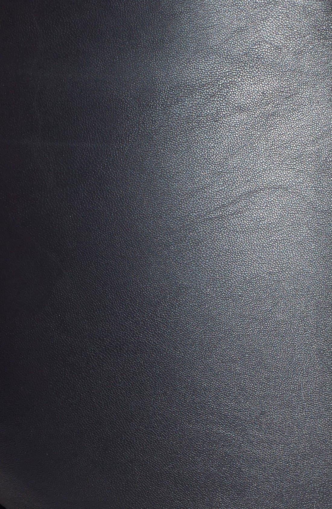 High Waist Faux Leather Leggings,                             Alternate thumbnail 5, color,                             001