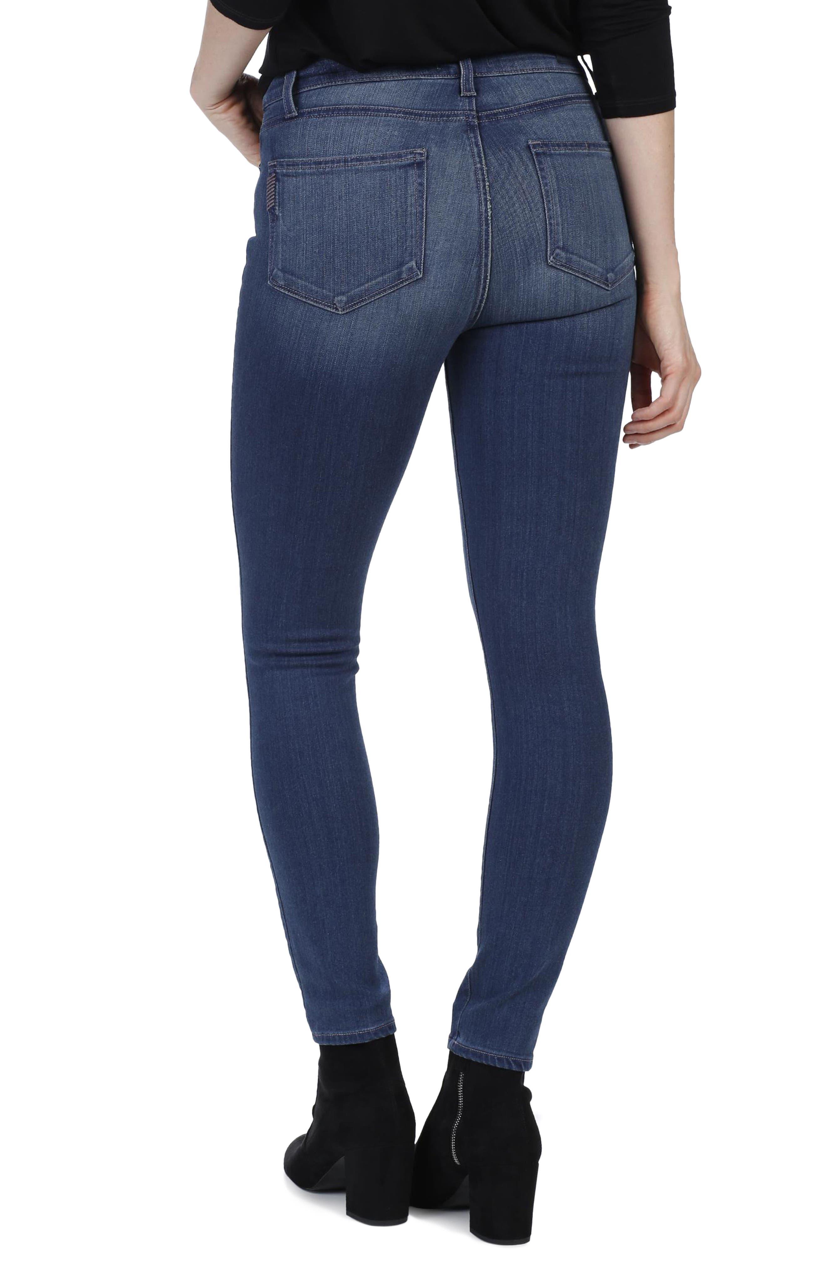 Transcend - Hoxton High Waist Ankle Skinny Jeans,                             Alternate thumbnail 4, color,
