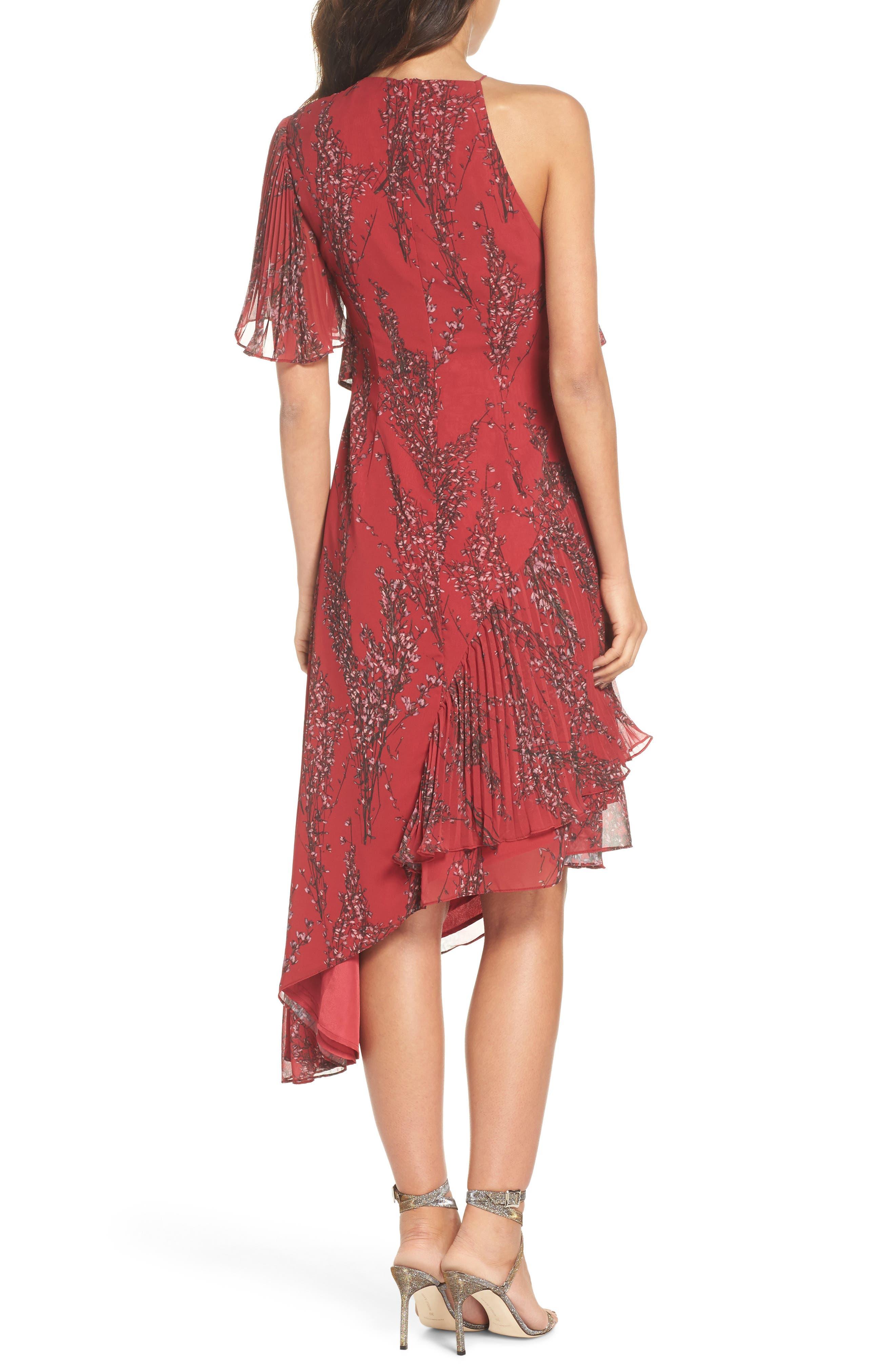 Asymmetrical Ruffle Dress,                             Alternate thumbnail 2, color,                             622