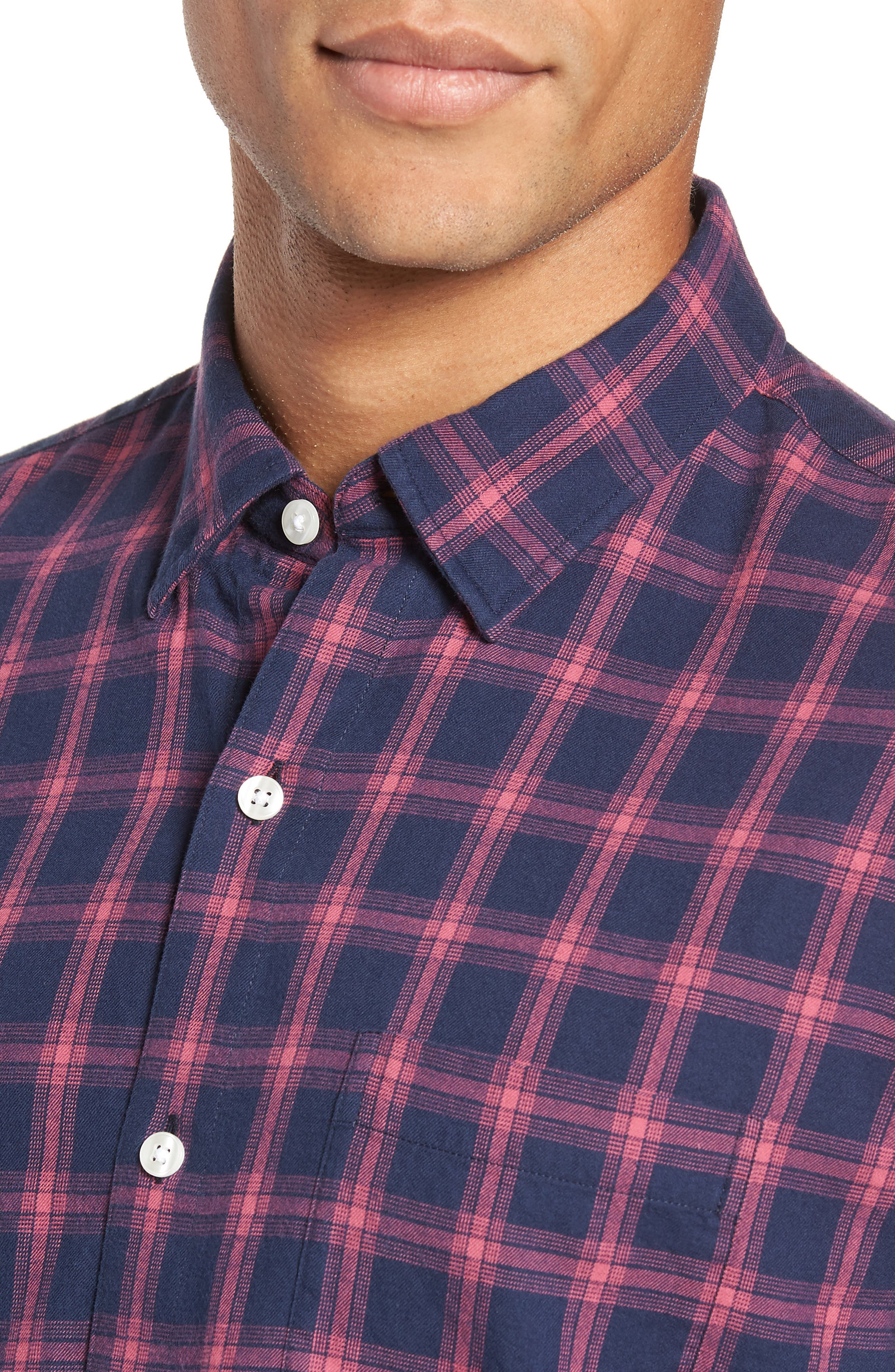 Slim Fit Brushed Twill Sport Shirt,                             Alternate thumbnail 2, color,                             ELLIS CHECK - MALAGA