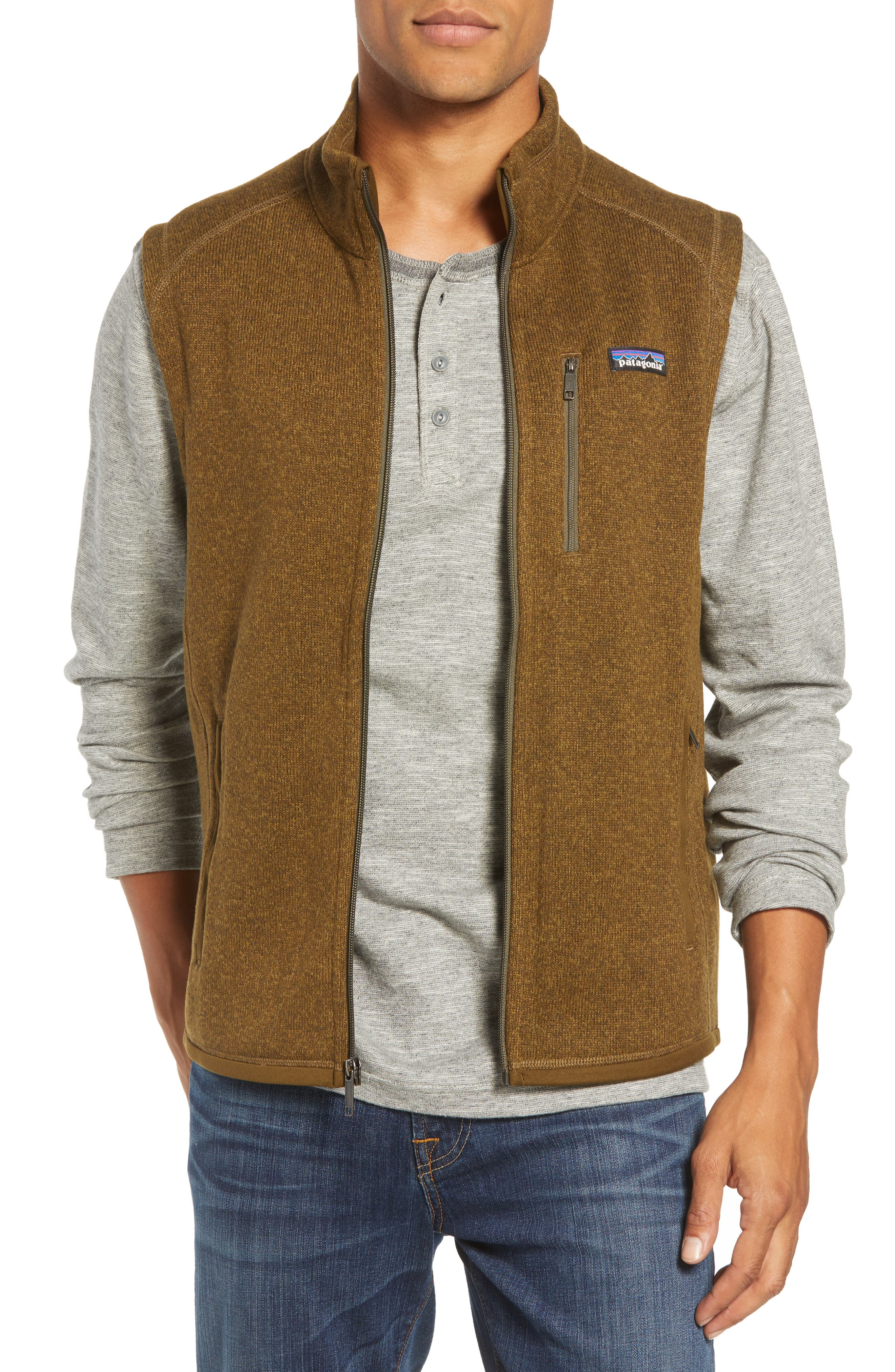 'Better Sweater' Zip Front Vest,                         Main,                         color, SEDIMENT