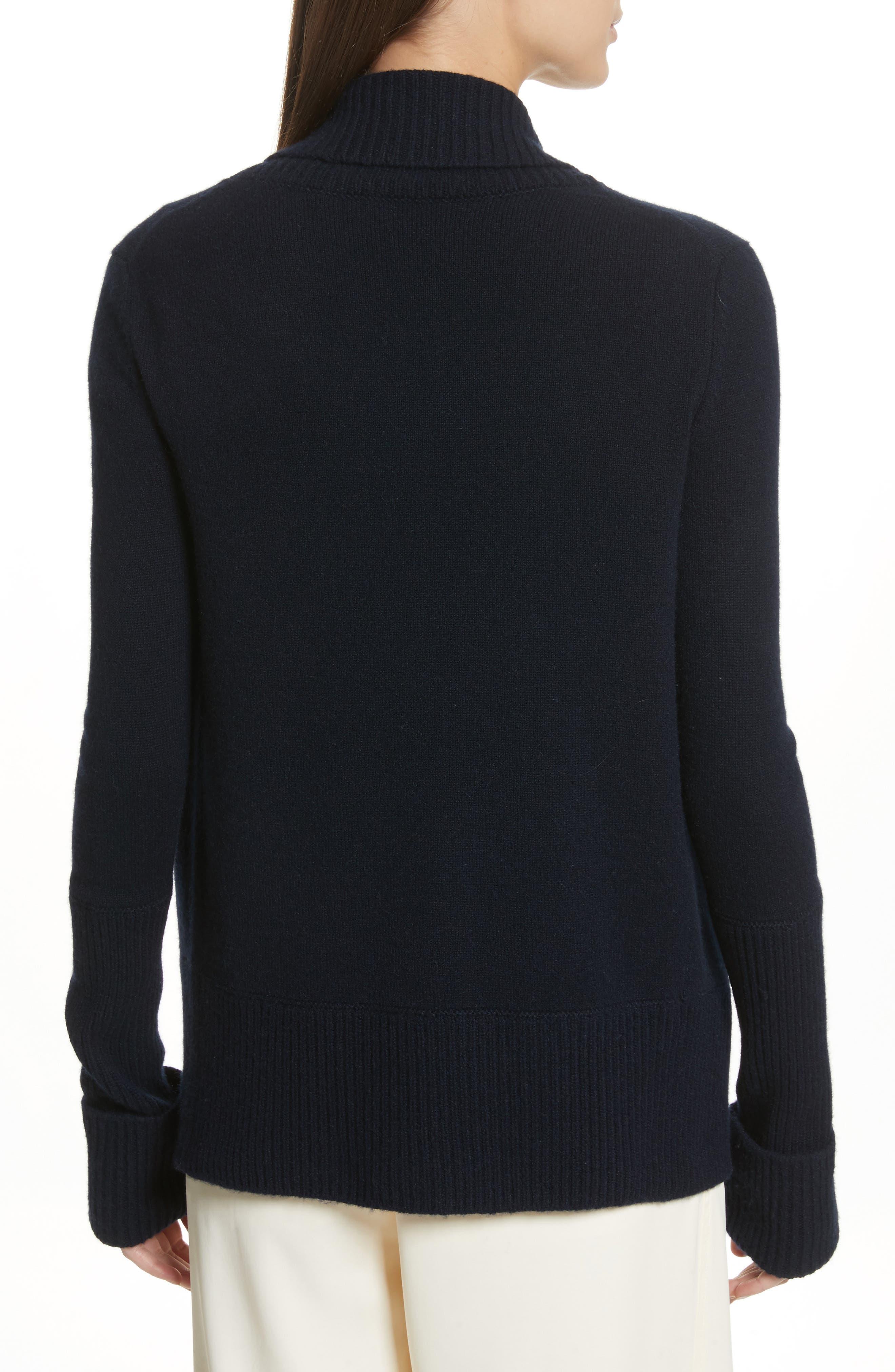 Wide Collar Cashmere Cardigan,                             Alternate thumbnail 6, color,