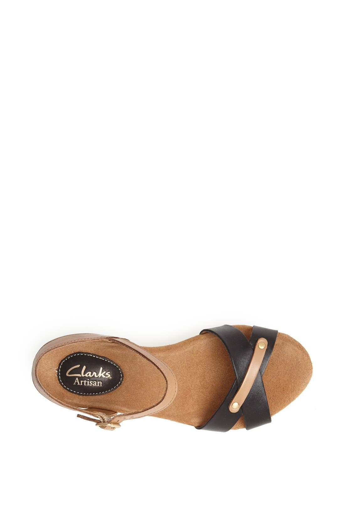 CLARKS<SUP>®</SUP>,                             'Caslynn Regina' Sandal,                             Alternate thumbnail 3, color,                             005