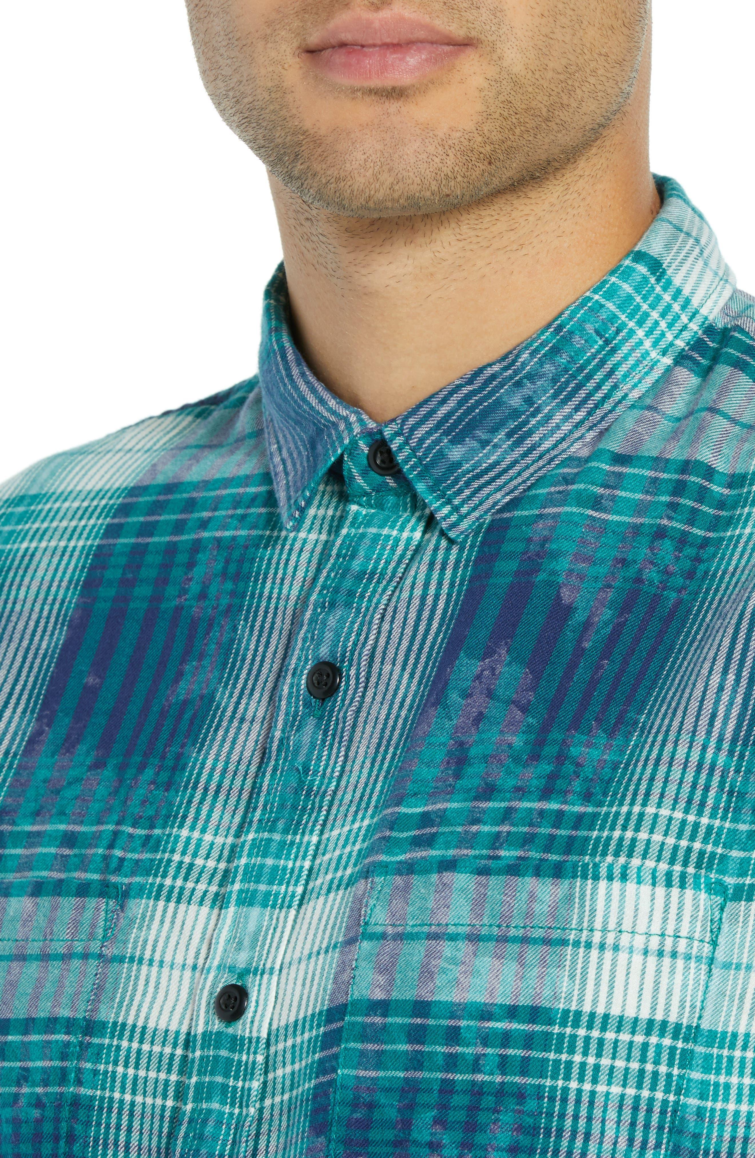 Beach Plaid Shirt,                             Alternate thumbnail 2, color,                             449