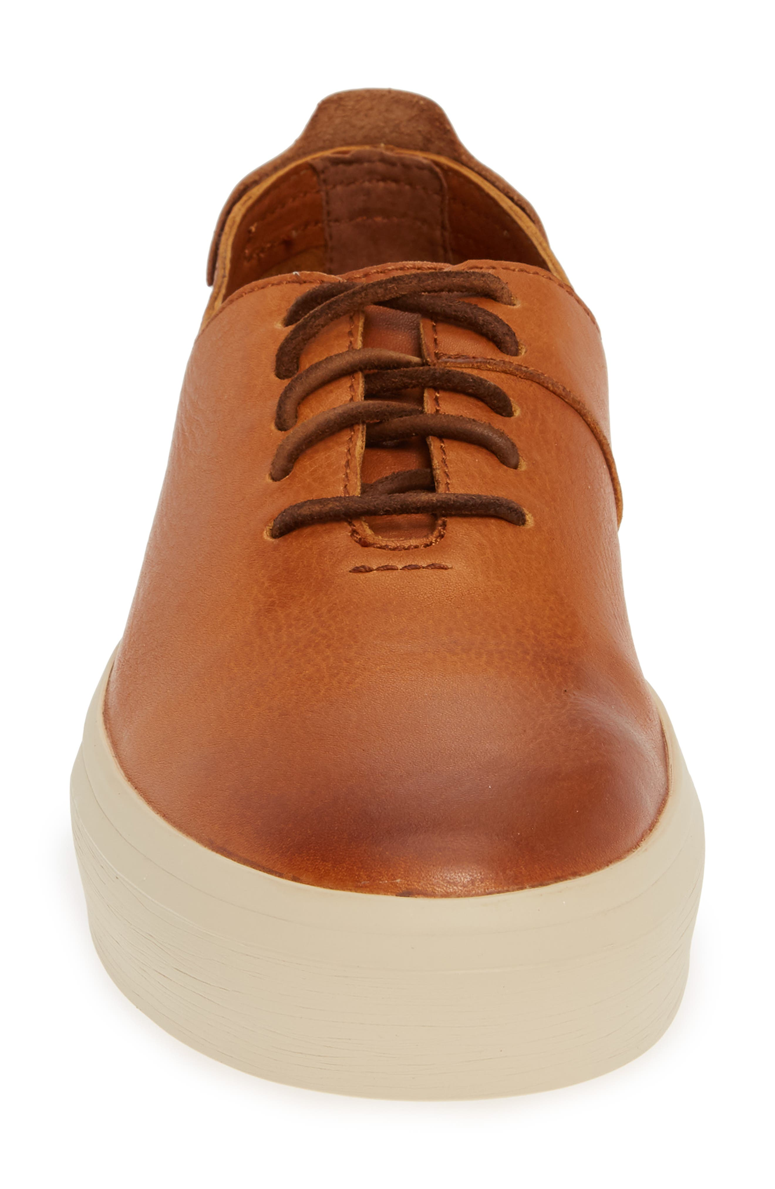FRYE,                             Beacon Sneaker,                             Alternate thumbnail 4, color,                             CARAMEL LEATHER