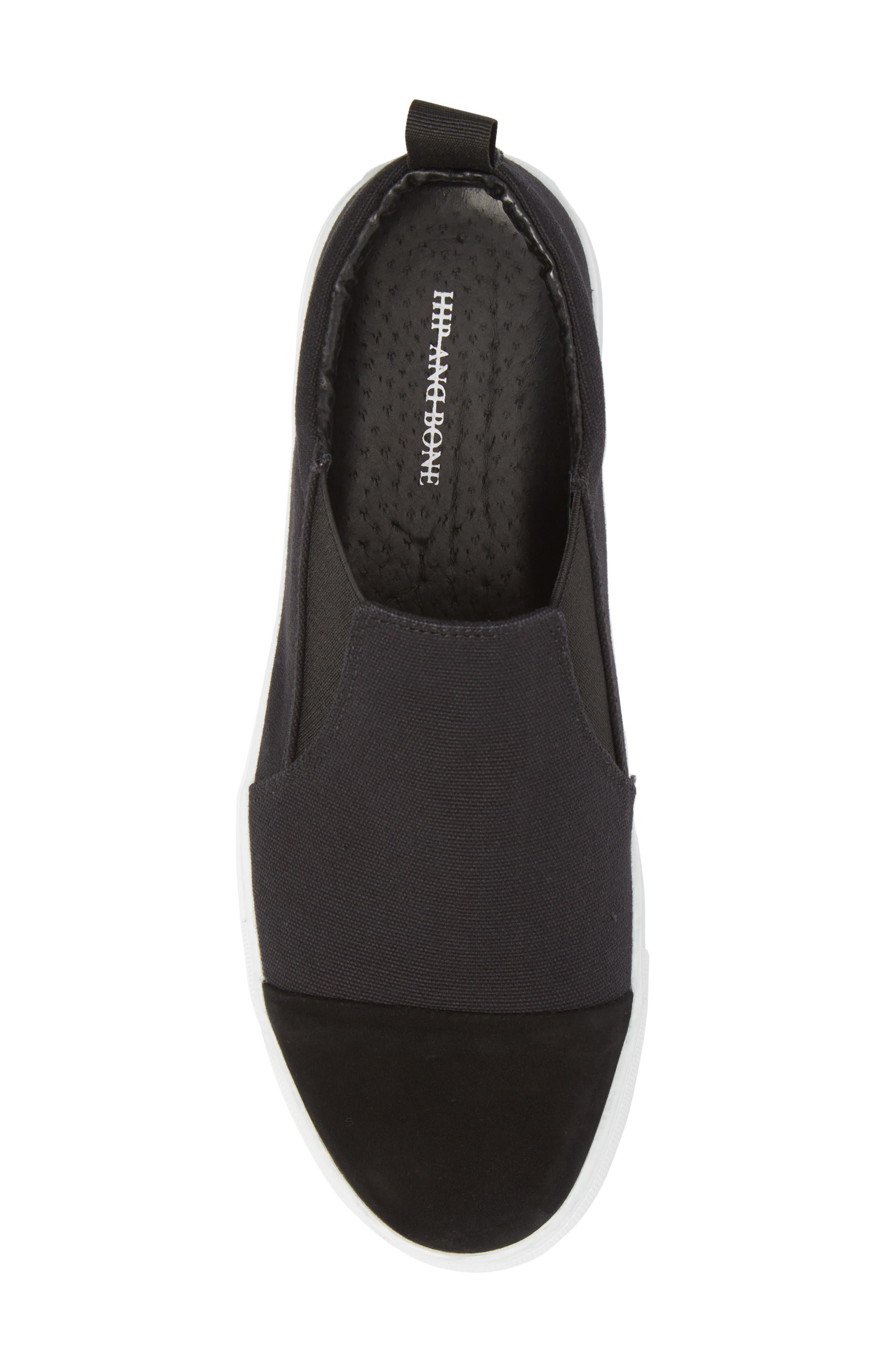 Canvas Suede Slider Slip-On Sneaker,                             Alternate thumbnail 5, color,                             001