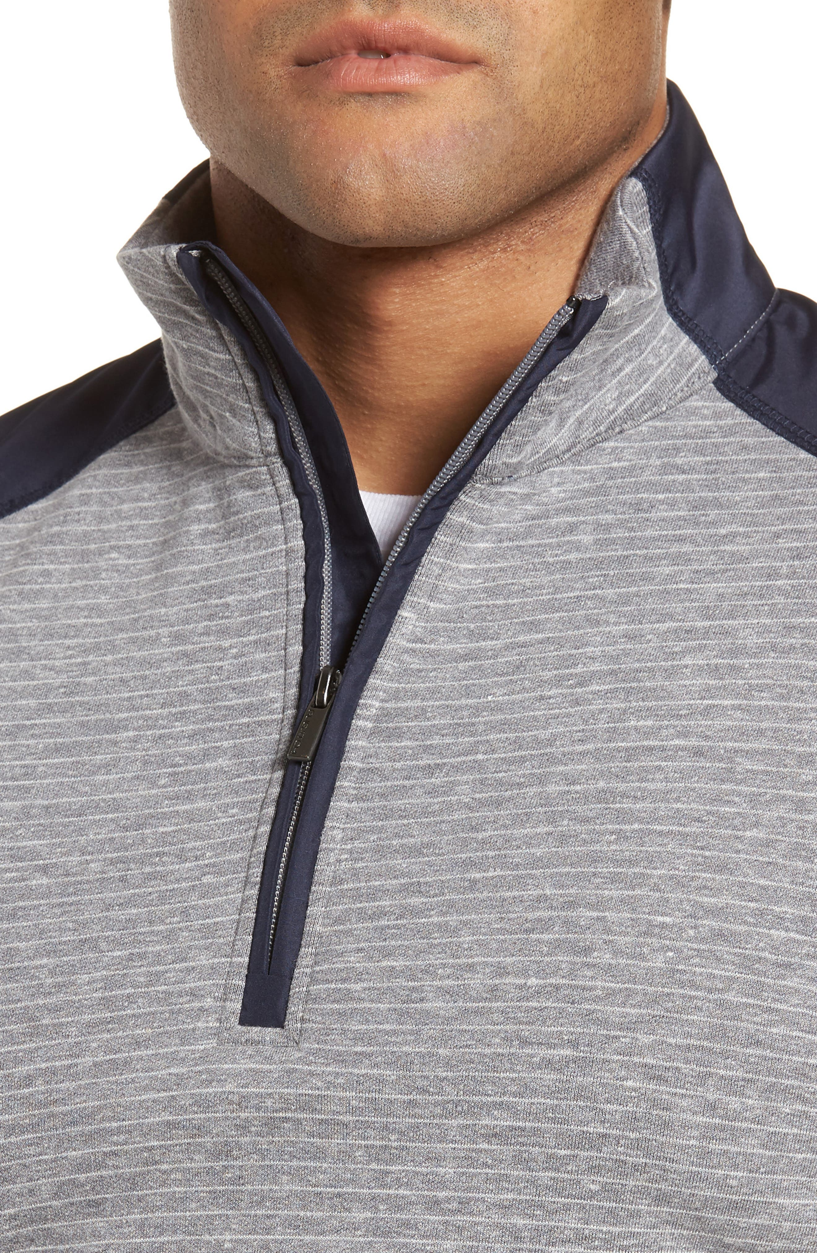 Regular Fit Stripe Quarter Zip Pullover,                             Alternate thumbnail 16, color,
