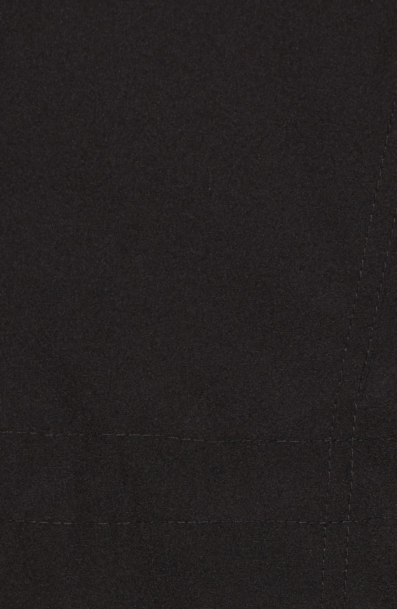 Bib Insert Down & Feather Fill Coat,                             Alternate thumbnail 6, color,                             001