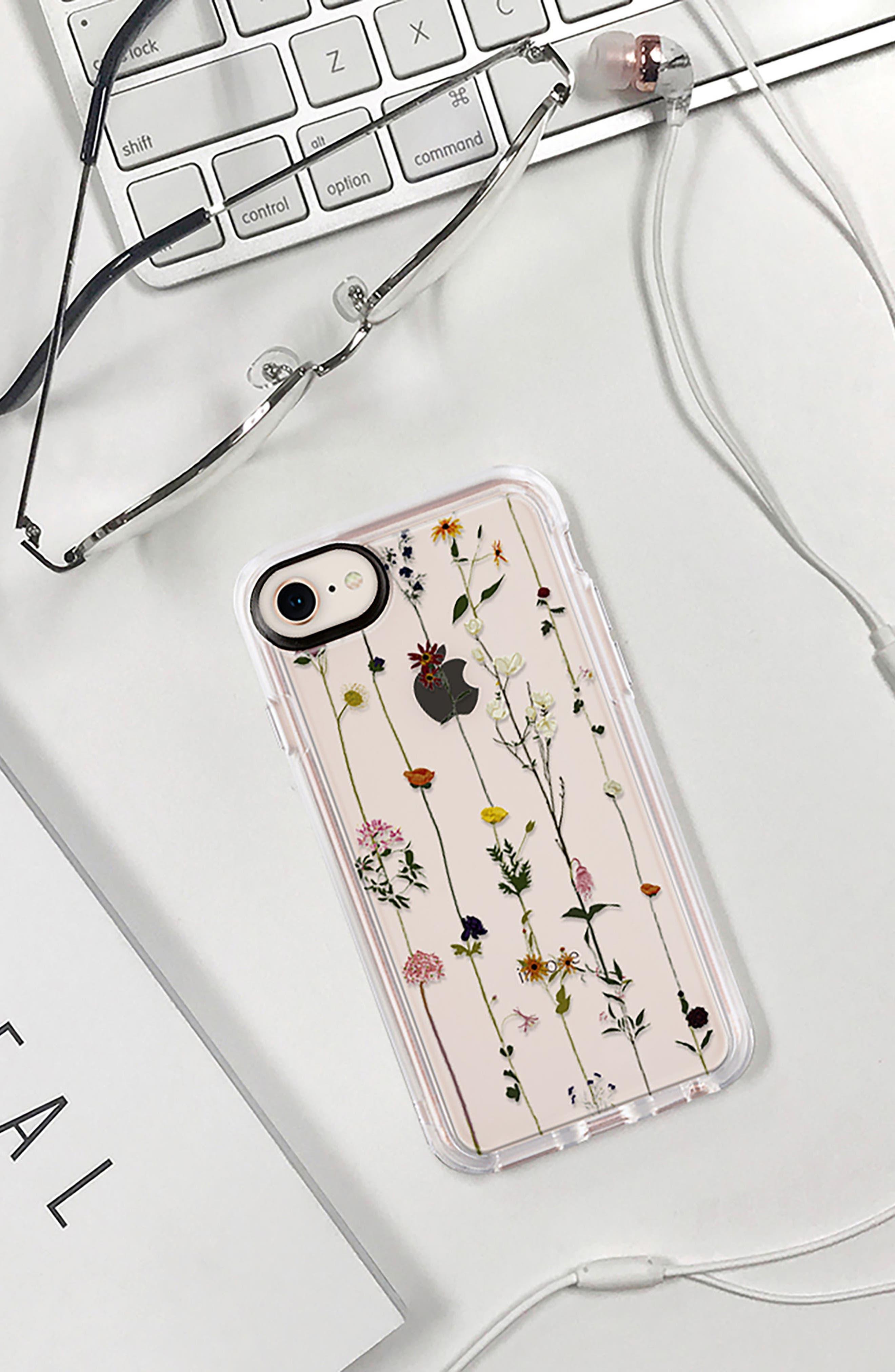 Floral Grip iPhone 7/8 & 7/8 Plus Case,                             Alternate thumbnail 8, color,                             CLEAR MULTI