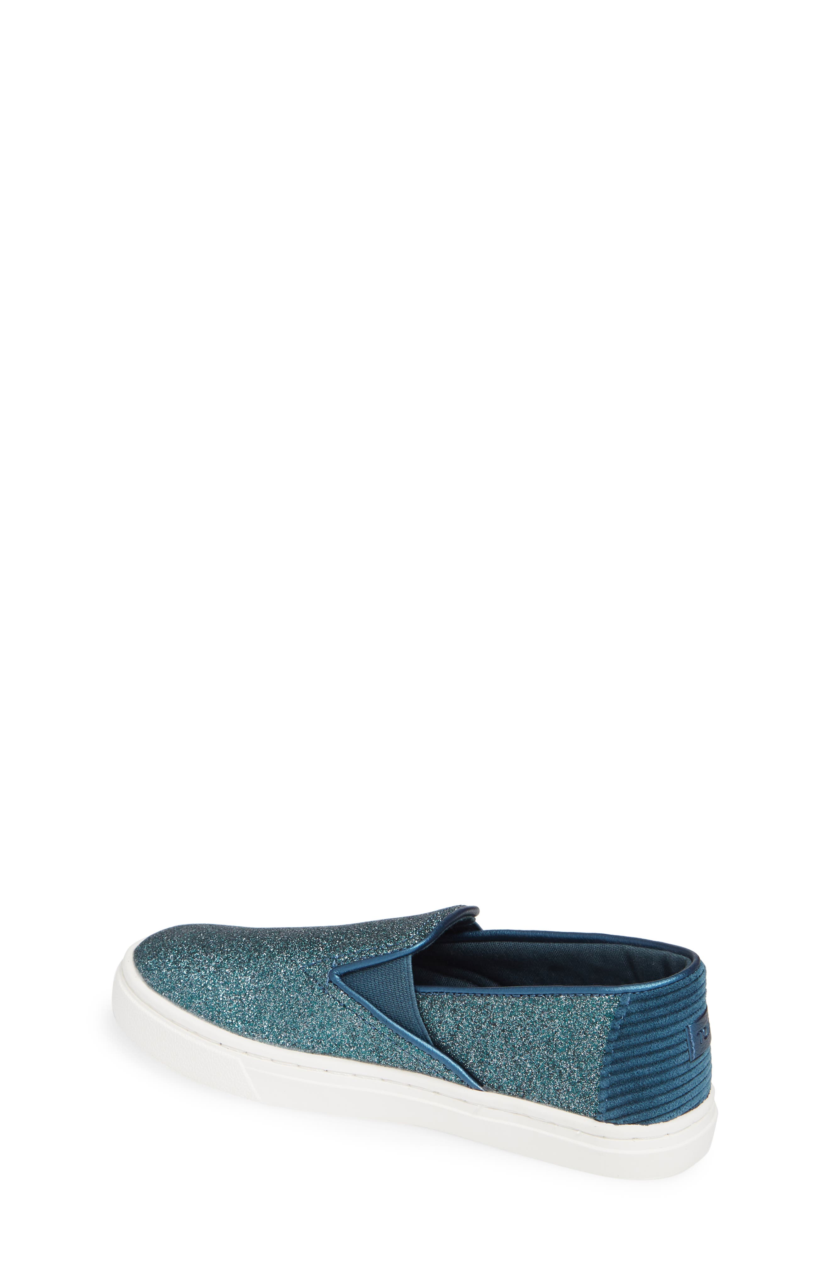 Luca Slip-On Sneaker,                             Alternate thumbnail 2, color,                             ATLANTIC IRIDESCENT/ CORDUROY