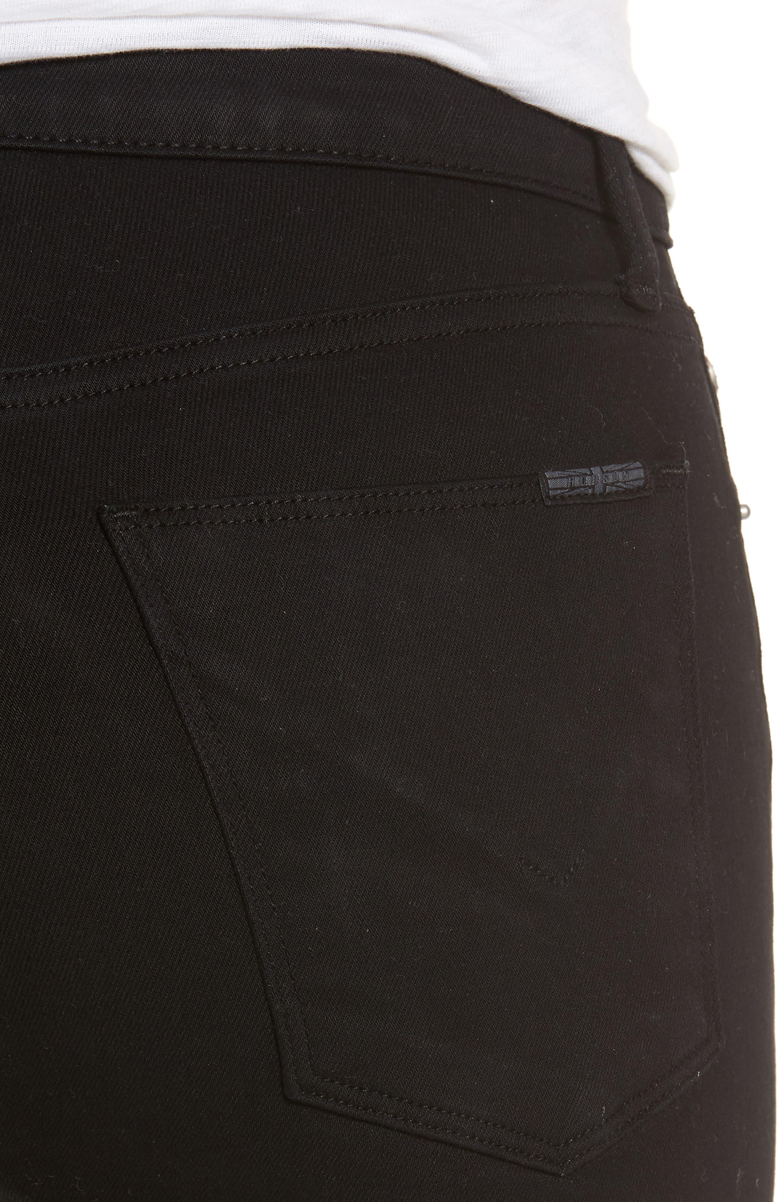 Harper High Rise Crop Jeans,                             Alternate thumbnail 4, color,                             001