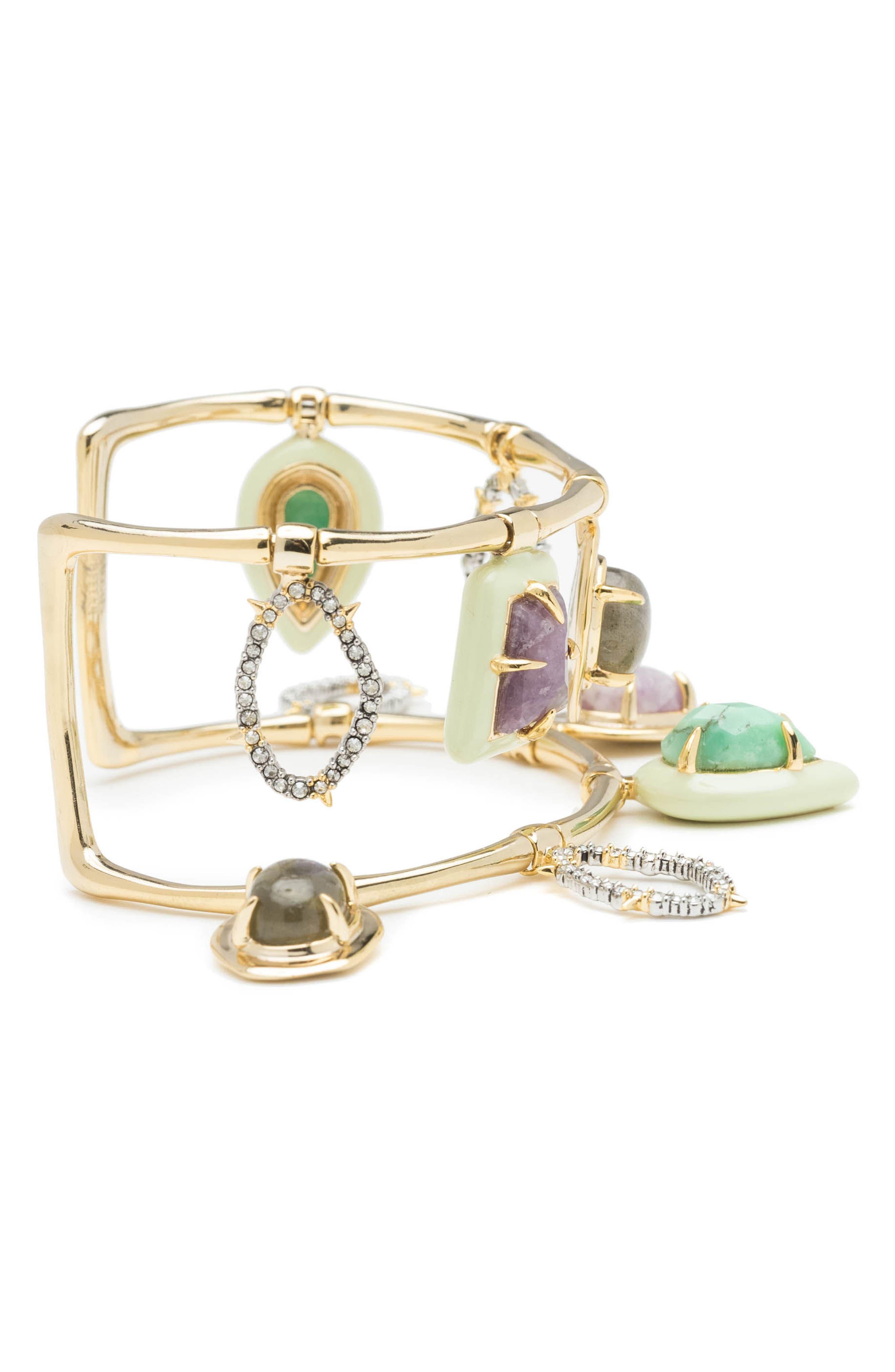 Swinging Stone Cuff Bracelet,                             Alternate thumbnail 3, color,                             710