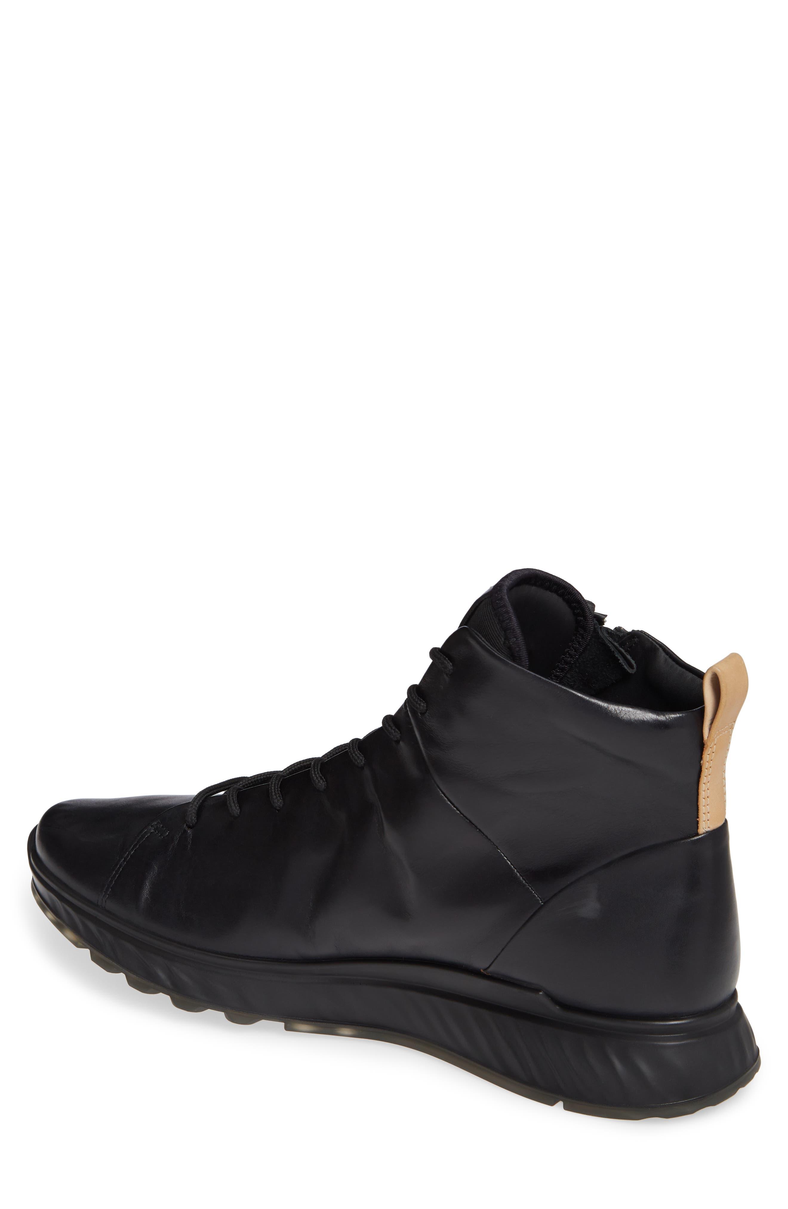 ST1 High Top Sneaker,                             Alternate thumbnail 2, color,                             BLACK/BLACK LEATHER
