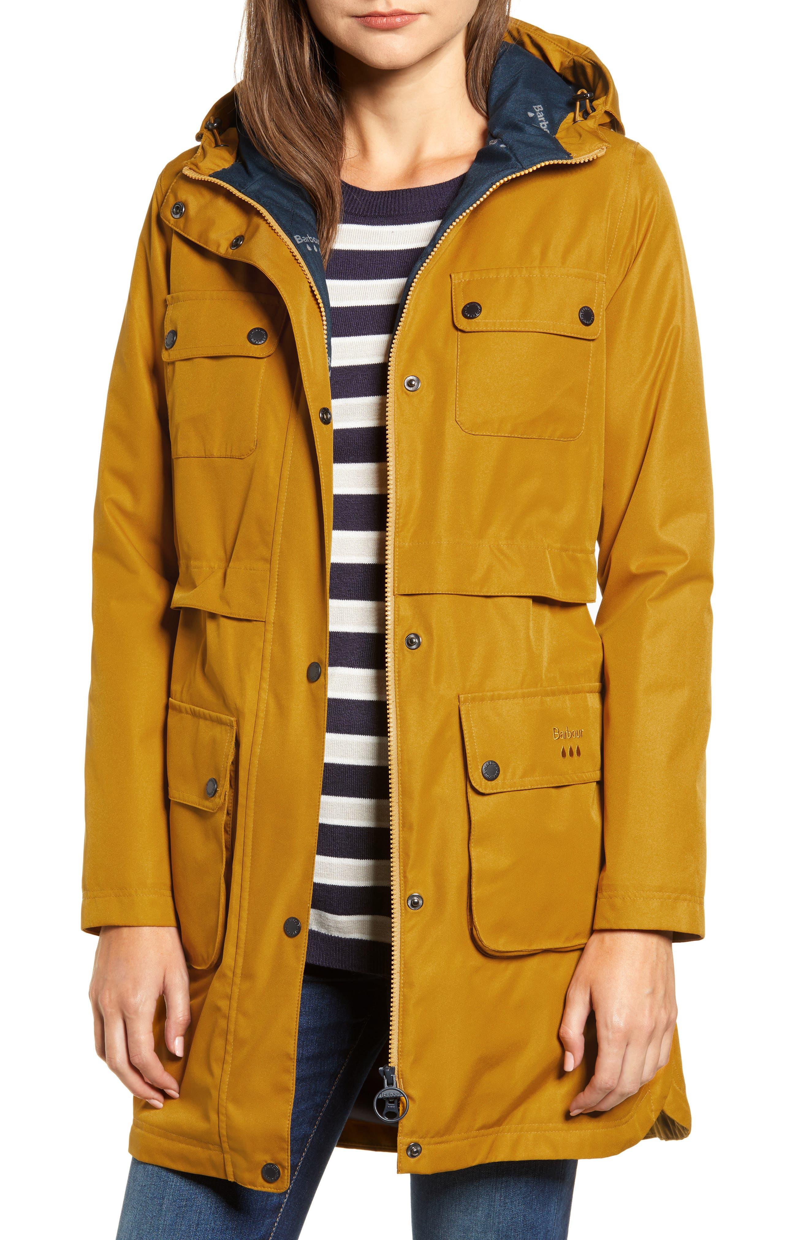 Barbour Isobar Waterproof Jacket, US / 8 UK - Yellow