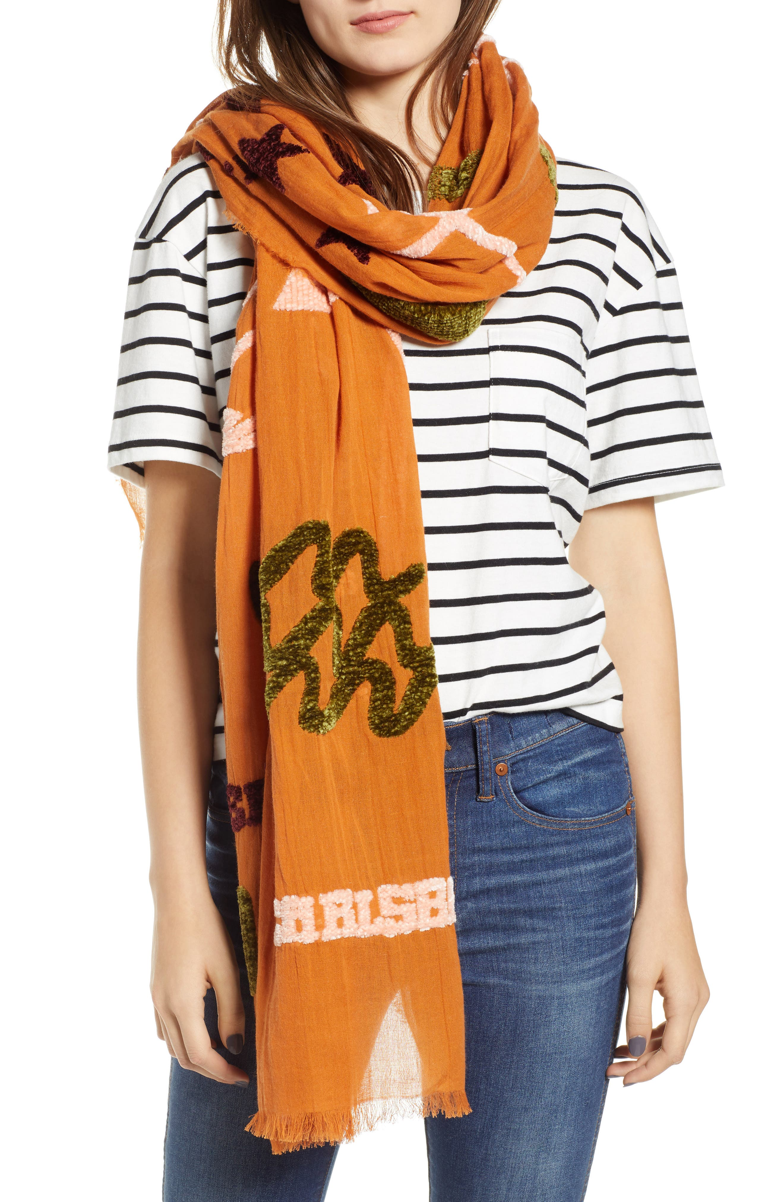 New Mexico Map Chenille Scarf,                         Main,                         color, 700